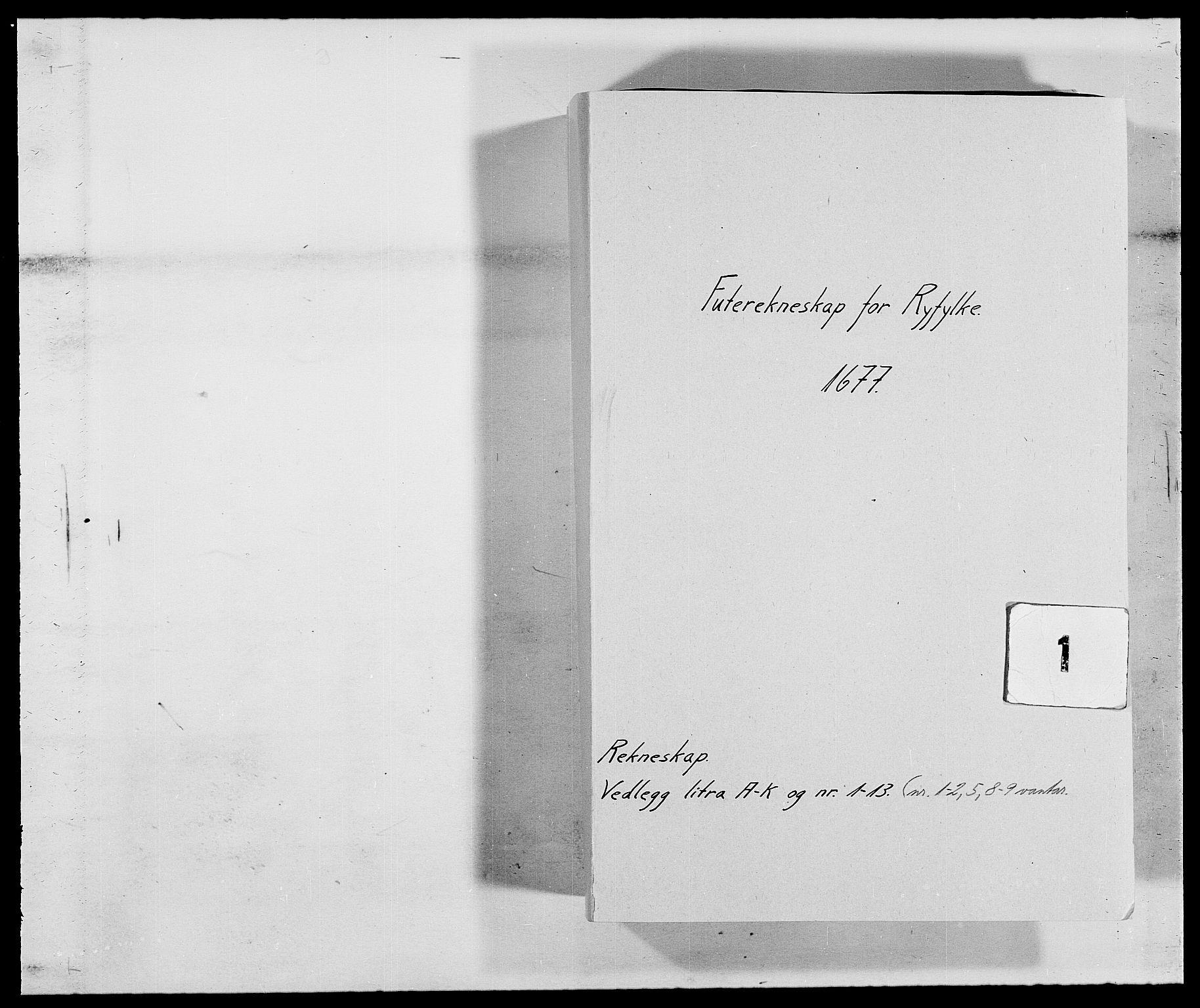 RA, Rentekammeret inntil 1814, Reviderte regnskaper, Fogderegnskap, R47/L2847: Fogderegnskap Ryfylke, 1677, s. 1