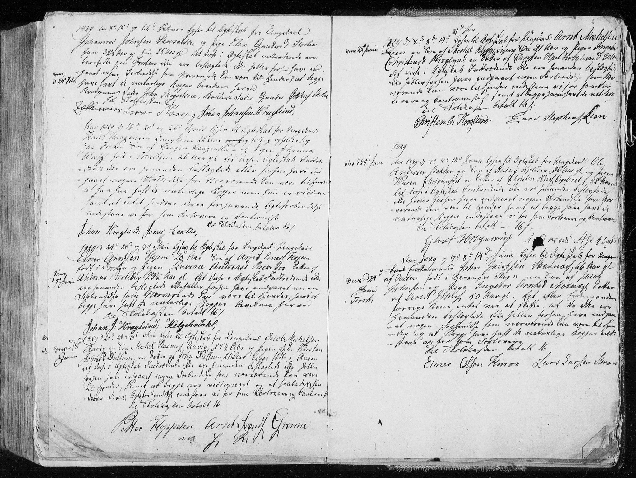 SAT, Ministerialprotokoller, klokkerbøker og fødselsregistre - Nord-Trøndelag, 713/L0114: Ministerialbok nr. 713A05, 1827-1839, s. 6