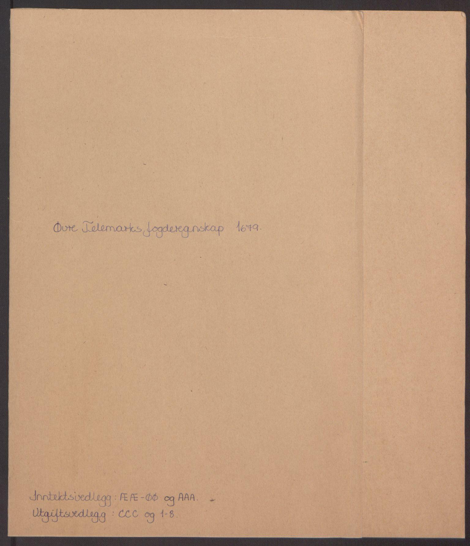 RA, Rentekammeret inntil 1814, Reviderte regnskaper, Fogderegnskap, R35/L2074: Fogderegnskap Øvre og Nedre Telemark, 1679, s. 2