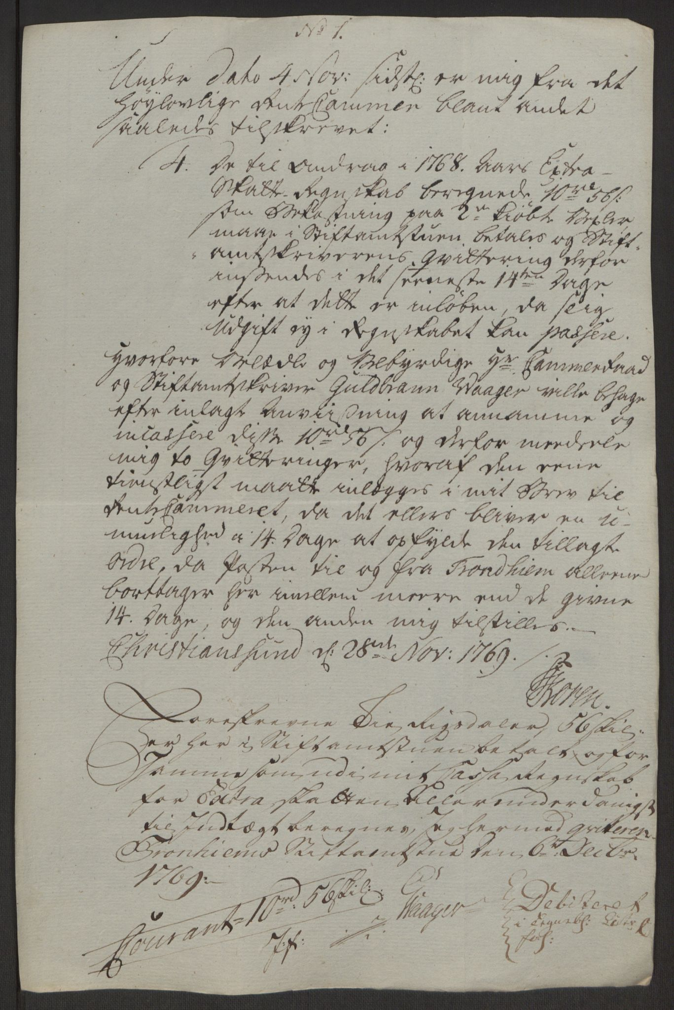 RA, Rentekammeret inntil 1814, Reviderte regnskaper, Byregnskaper, R/Rr/L0495: [R1] Kontribusjonsregnskap, 1762-1772, s. 201