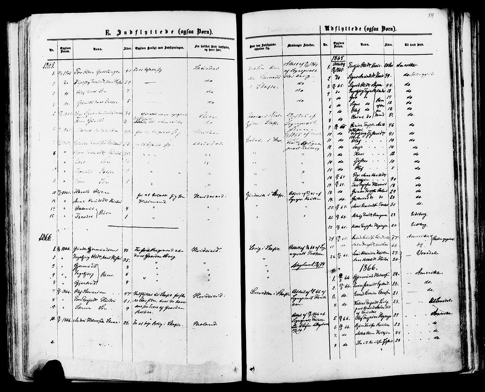 SAKO, Mo kirkebøker, F/Fa/L0006: Ministerialbok nr. I 6, 1865-1885, s. 314