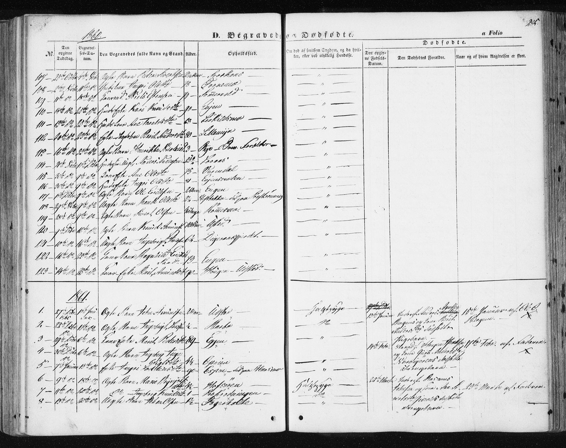 SAT, Ministerialprotokoller, klokkerbøker og fødselsregistre - Sør-Trøndelag, 668/L0806: Ministerialbok nr. 668A06, 1854-1869, s. 285