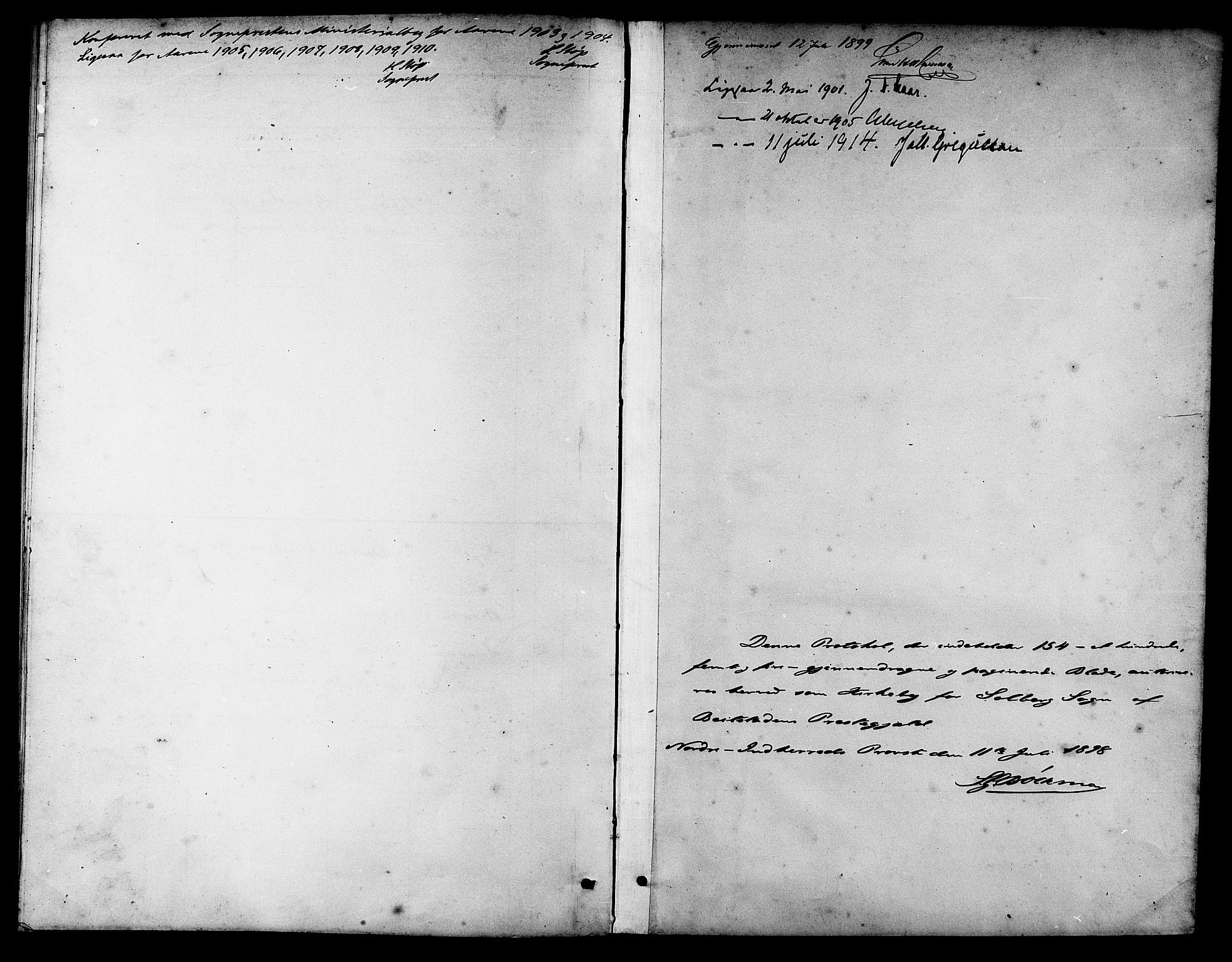 SAT, Ministerialprotokoller, klokkerbøker og fødselsregistre - Nord-Trøndelag, 741/L0401: Klokkerbok nr. 741C02, 1899-1911