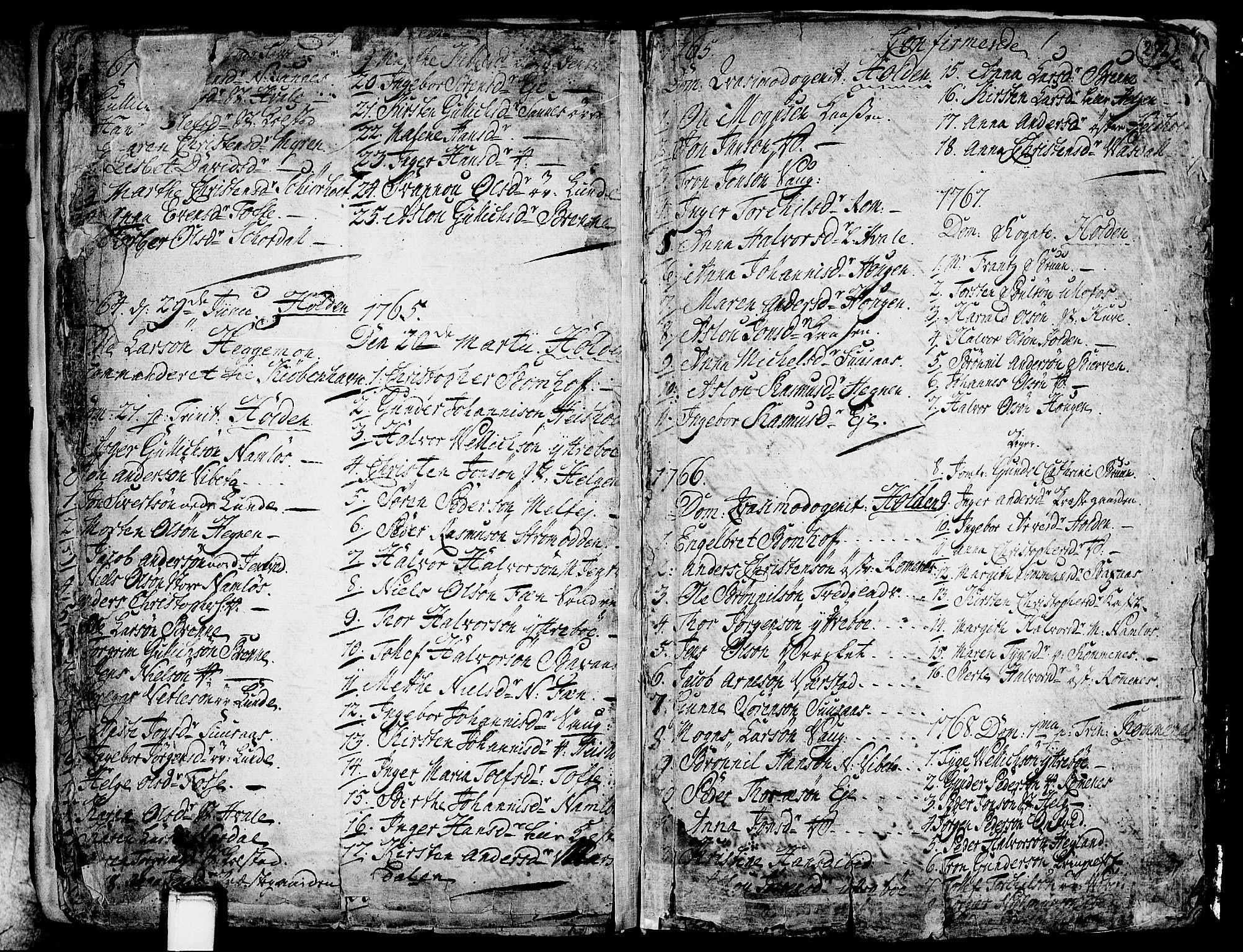 SAKO, Holla kirkebøker, F/Fa/L0001: Ministerialbok nr. 1, 1717-1779, s. 272