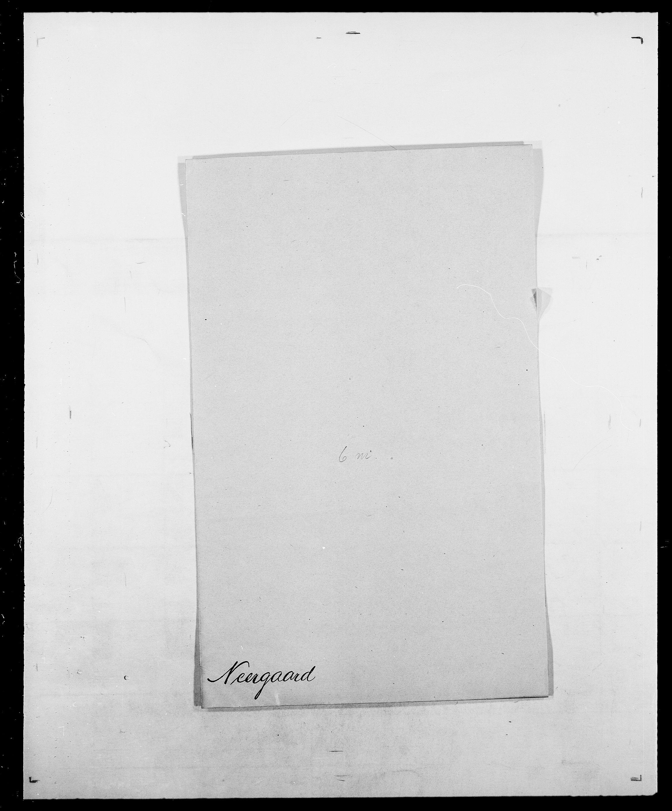SAO, Delgobe, Charles Antoine - samling, D/Da/L0028: Naaden - Nøvik, s. 85