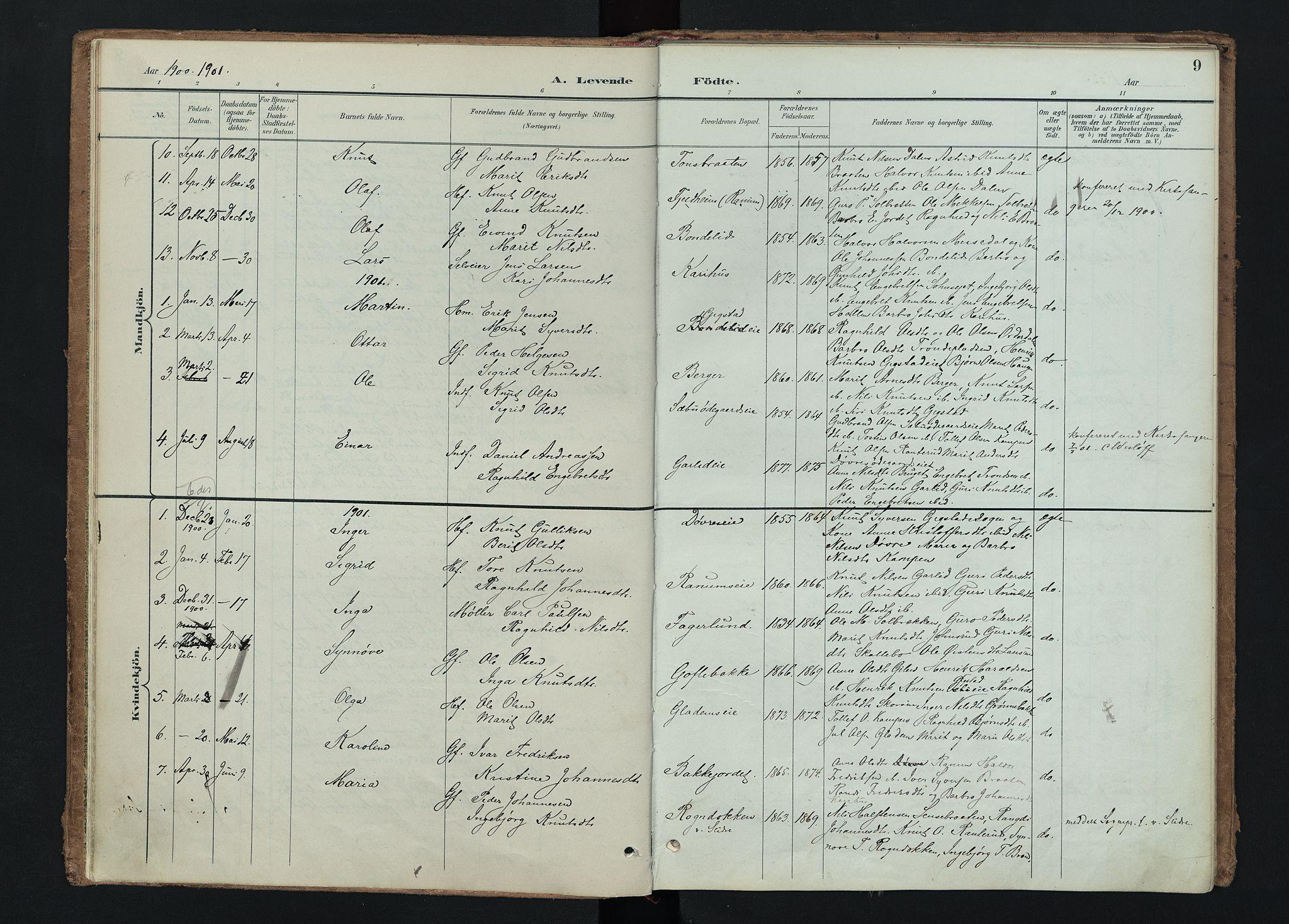 SAH, Nord-Aurdal prestekontor, Ministerialbok nr. 15, 1896-1914, s. 9