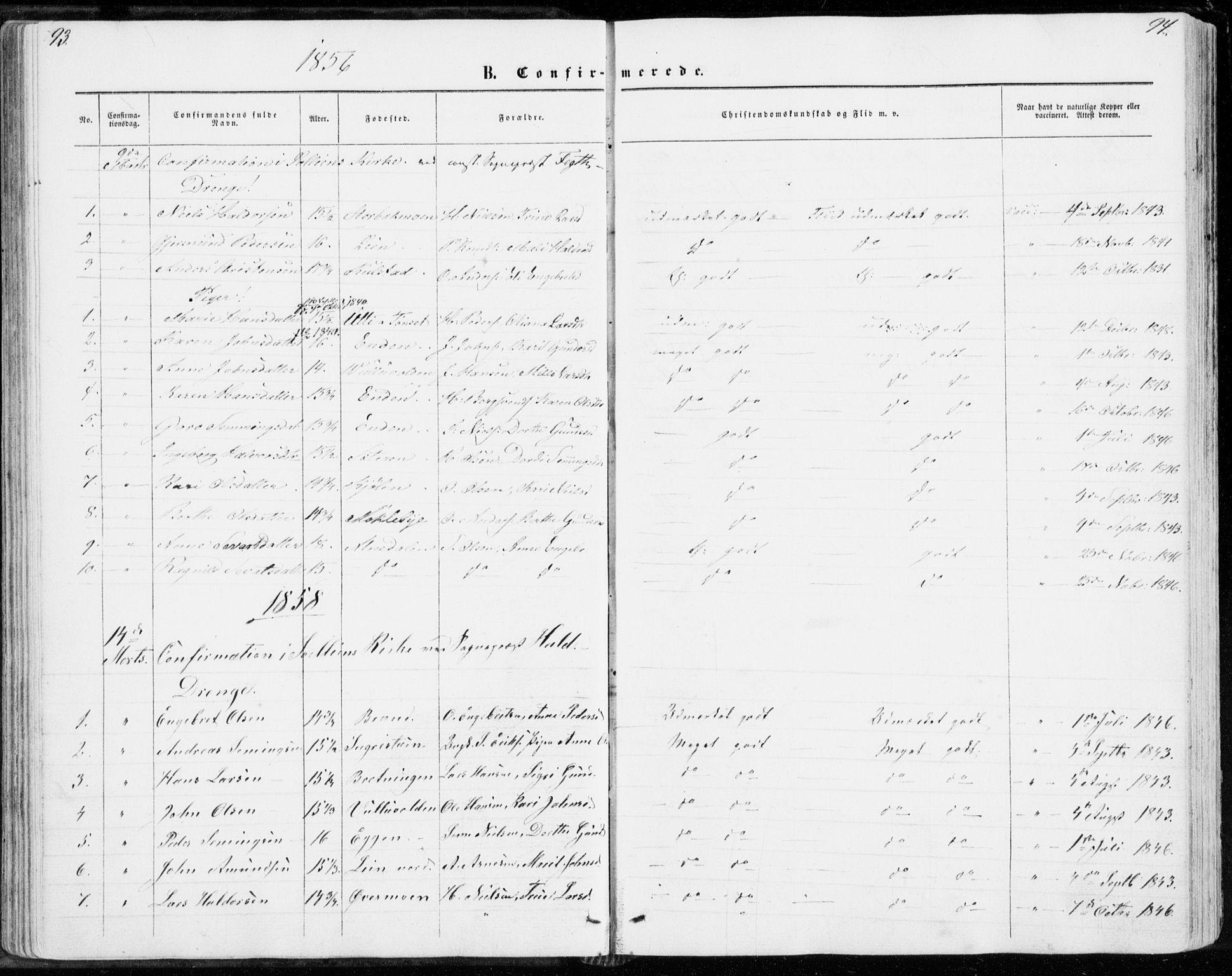 SAH, Sollia prestekontor, Ministerialbok nr. 1, 1856-1885, s. 93-94