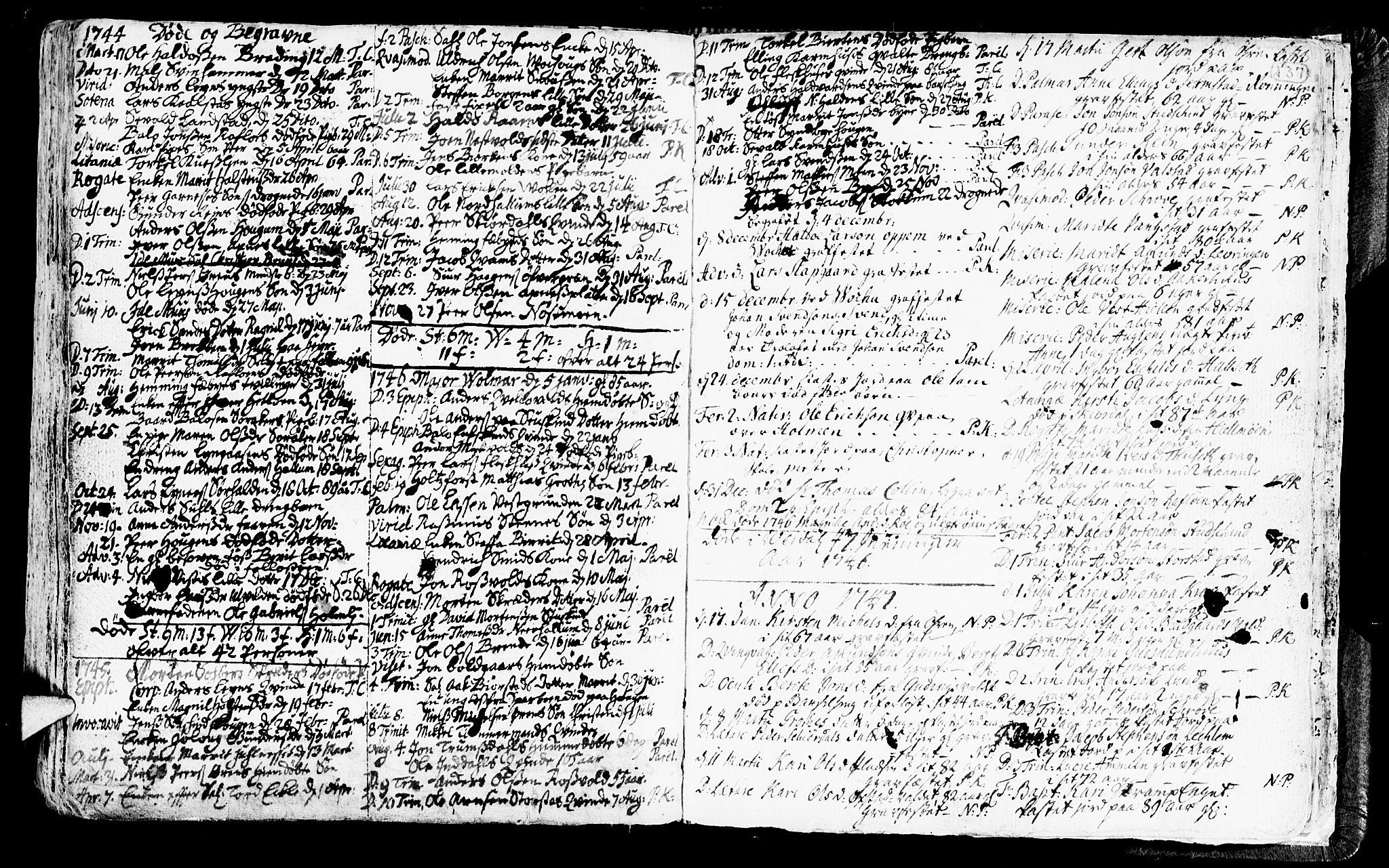 SAT, Ministerialprotokoller, klokkerbøker og fødselsregistre - Nord-Trøndelag, 723/L0230: Ministerialbok nr. 723A01, 1705-1747, s. 137