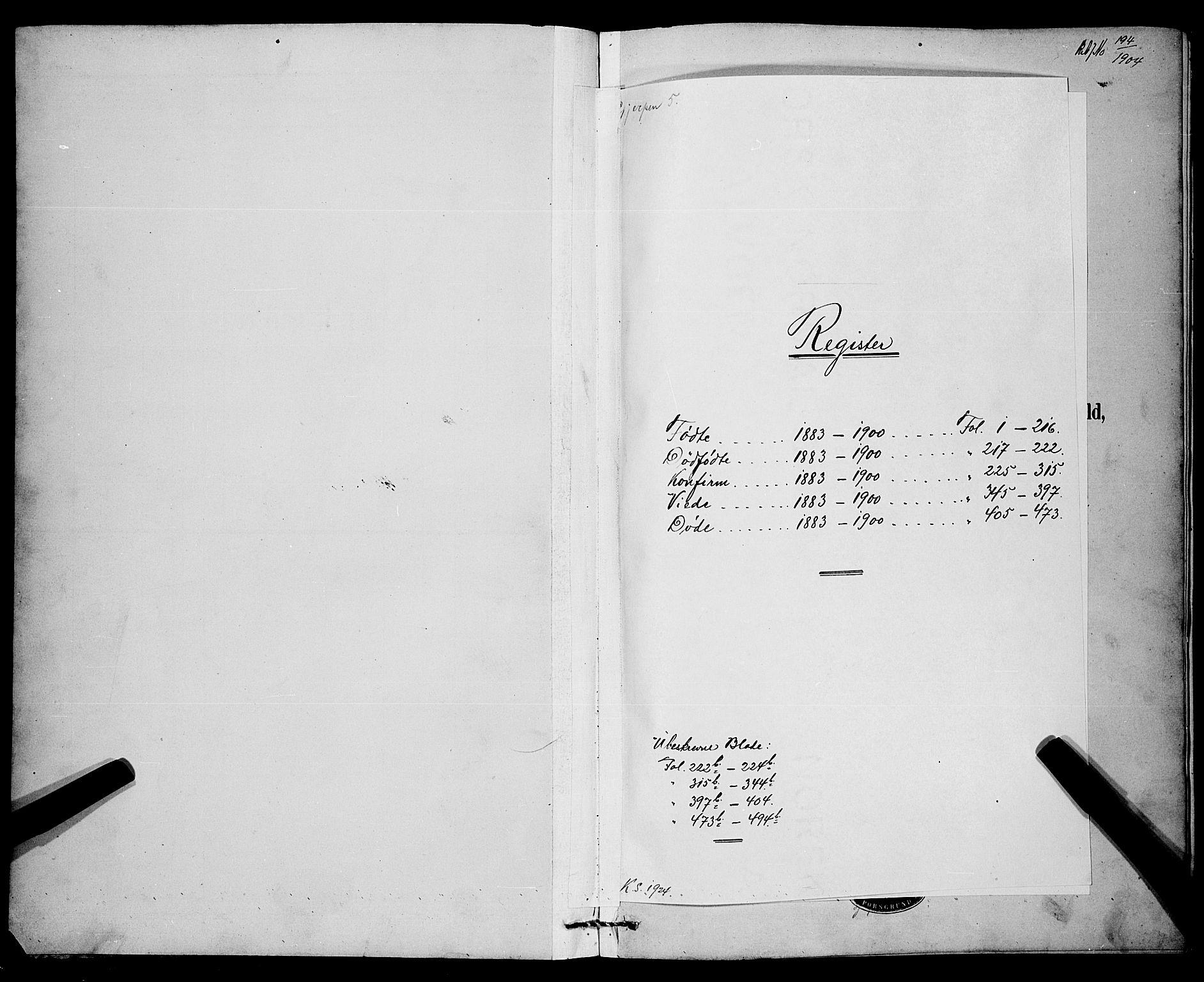 SAKO, Gjerpen kirkebøker, G/Ga/L0002: Klokkerbok nr. I 2, 1883-1900