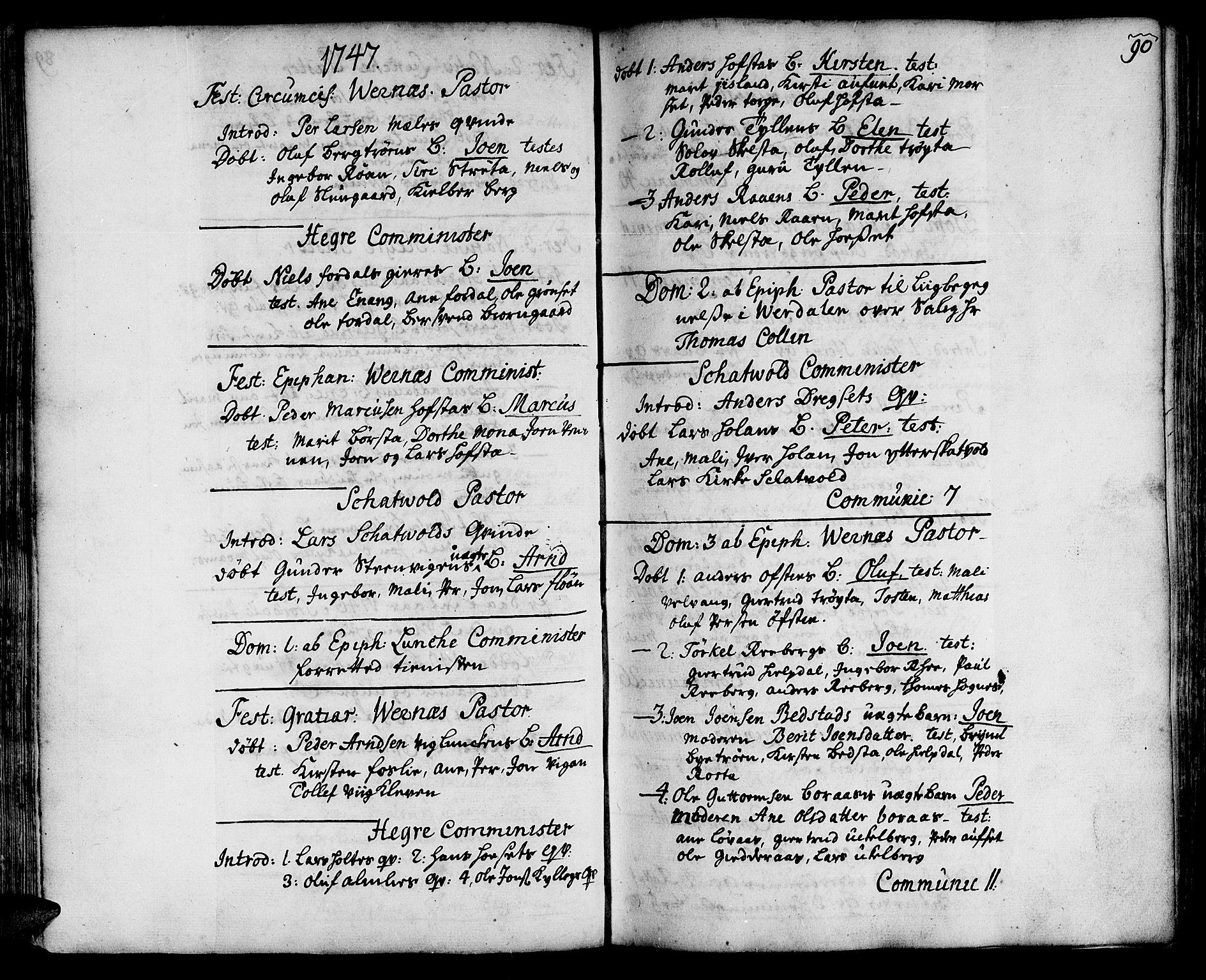 SAT, Ministerialprotokoller, klokkerbøker og fødselsregistre - Nord-Trøndelag, 709/L0056: Ministerialbok nr. 709A04, 1740-1756, s. 90