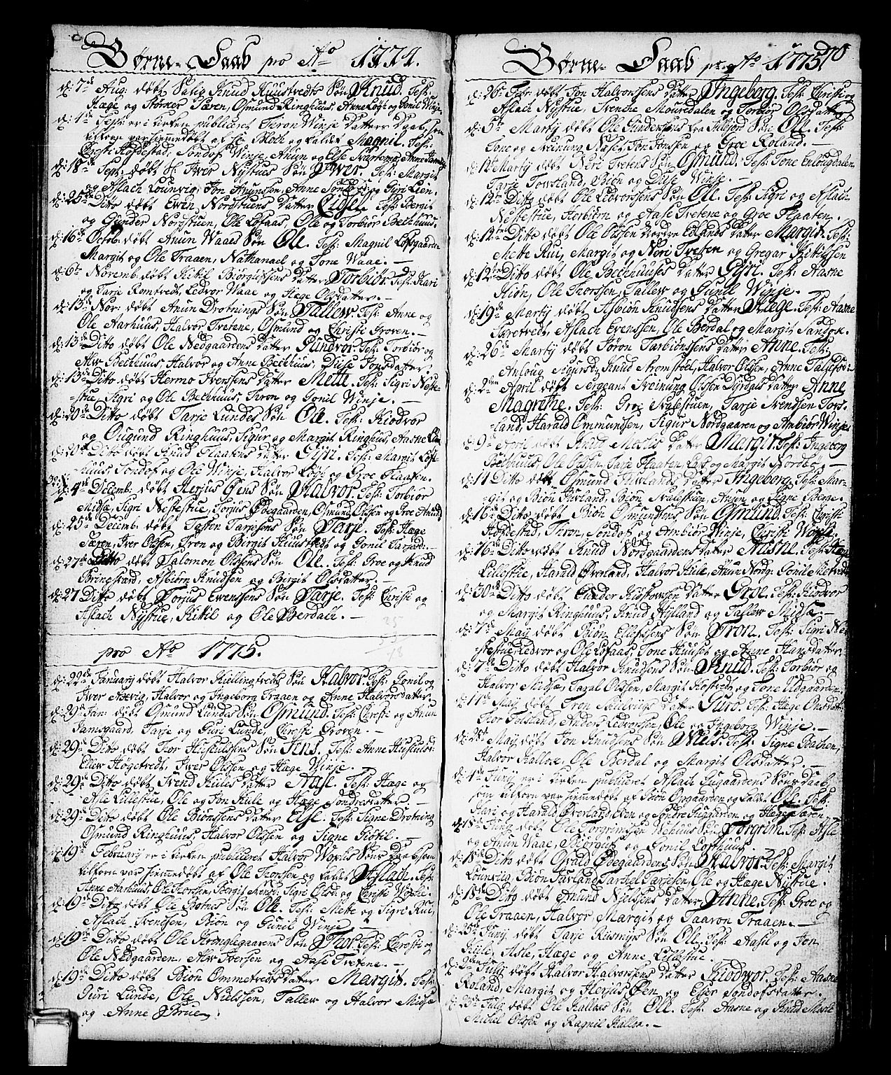 SAKO, Vinje kirkebøker, F/Fa/L0002: Ministerialbok nr. I 2, 1767-1814, s. 70