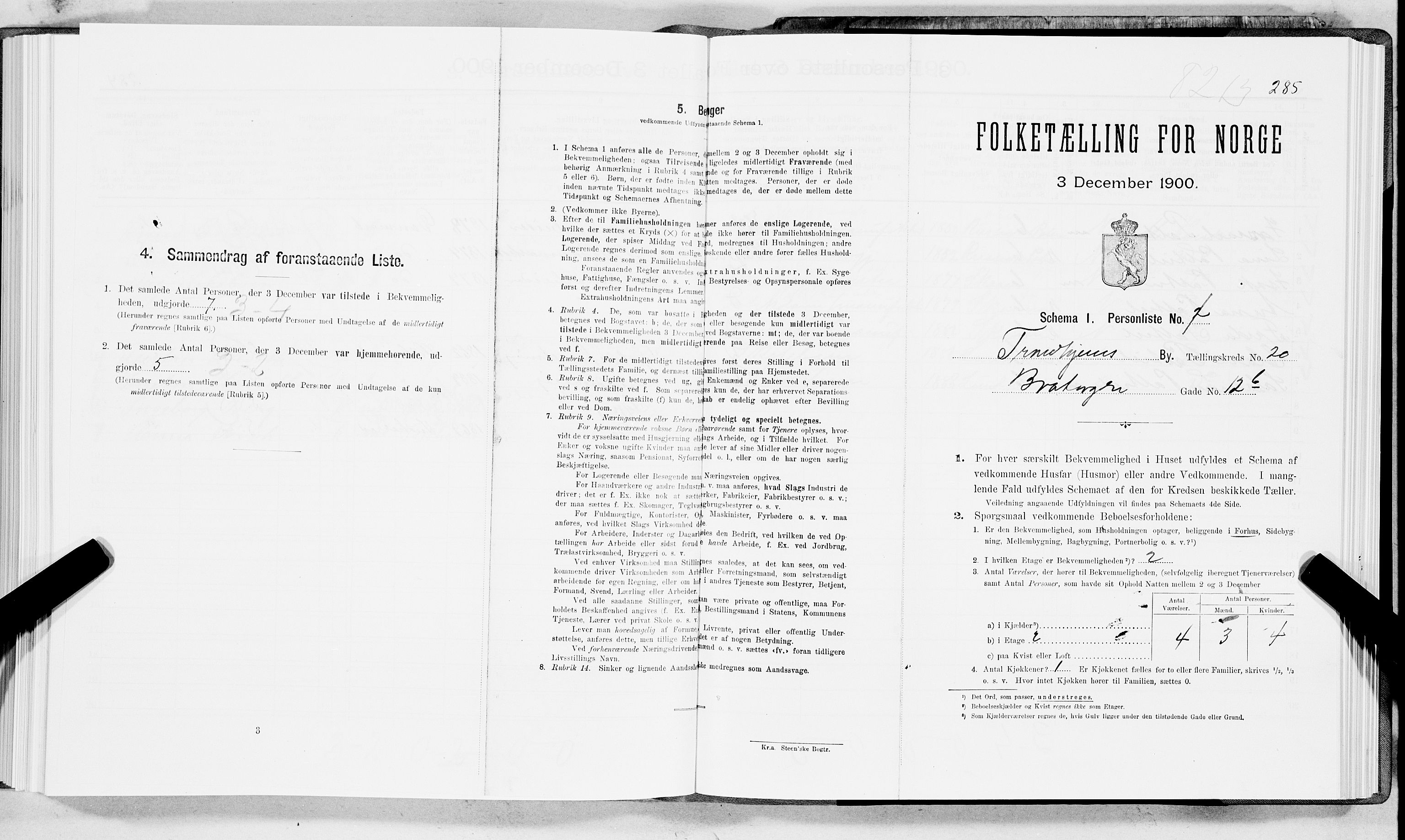 SAT, Folketelling 1900 for 1601 Trondheim kjøpstad, 1900, s. 3349