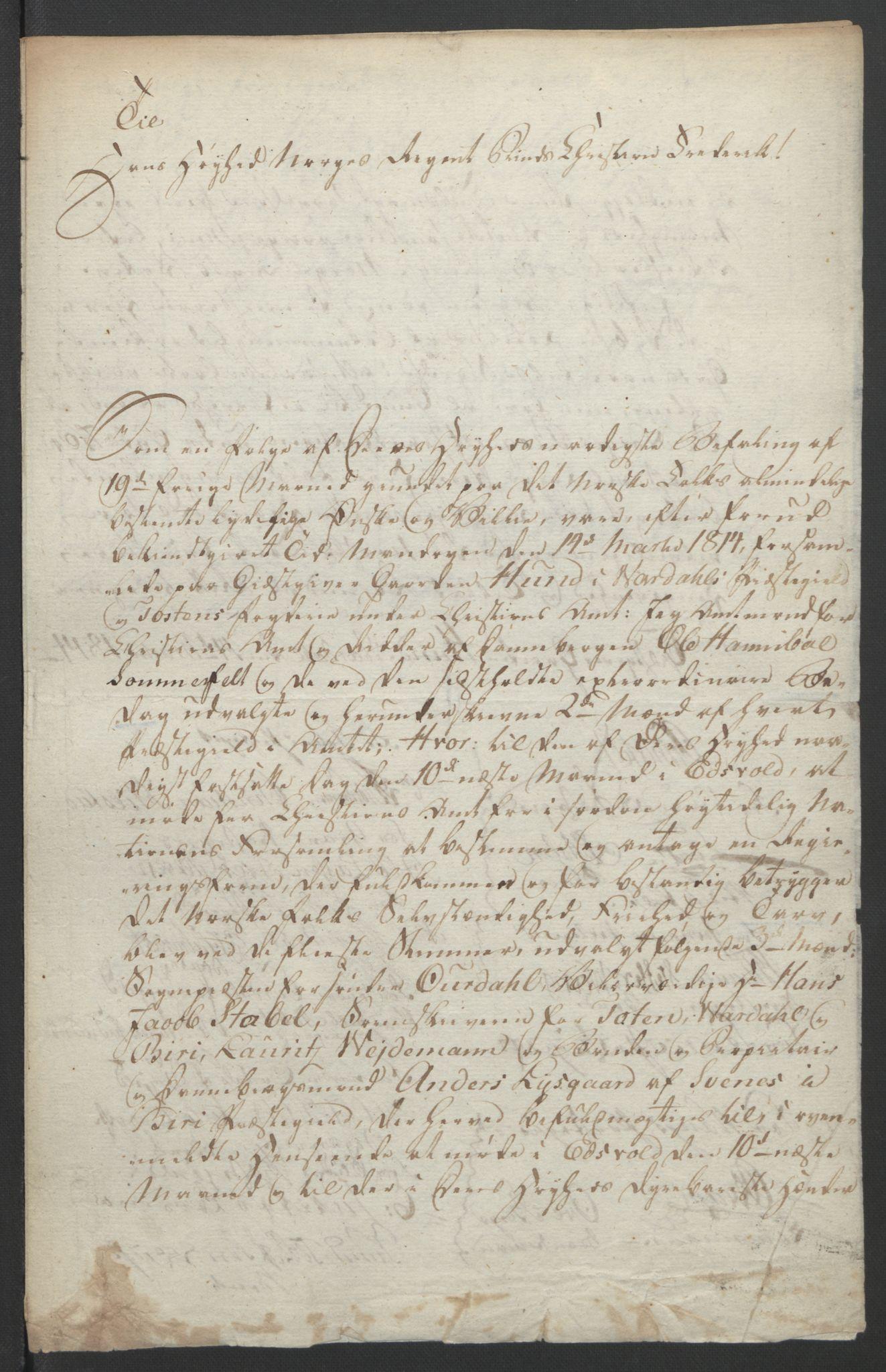 RA, Statsrådssekretariatet, D/Db/L0007: Fullmakter for Eidsvollsrepresentantene i 1814. , 1814, s. 249