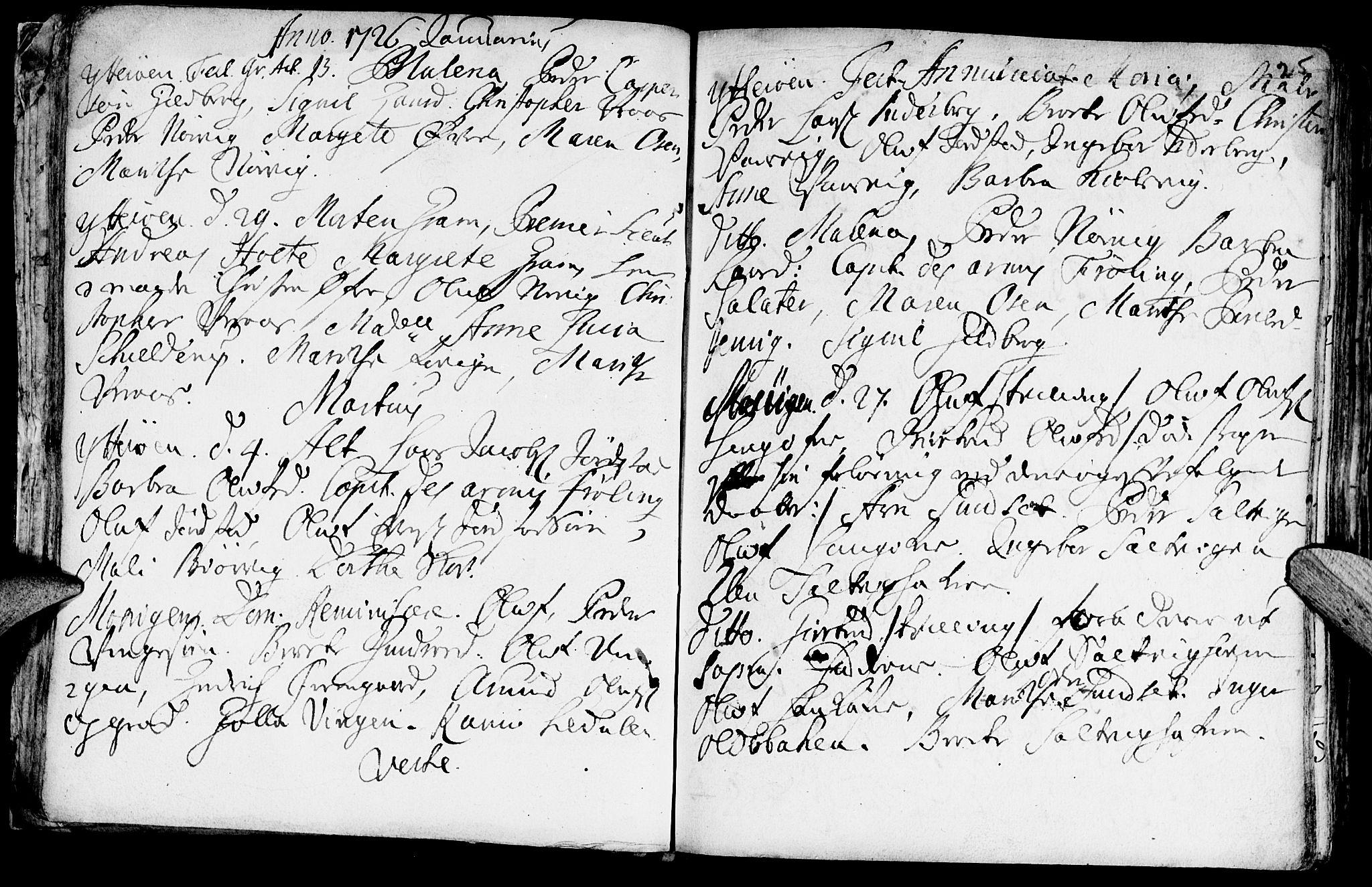 SAT, Ministerialprotokoller, klokkerbøker og fødselsregistre - Nord-Trøndelag, 722/L0215: Ministerialbok nr. 722A02, 1718-1755, s. 25