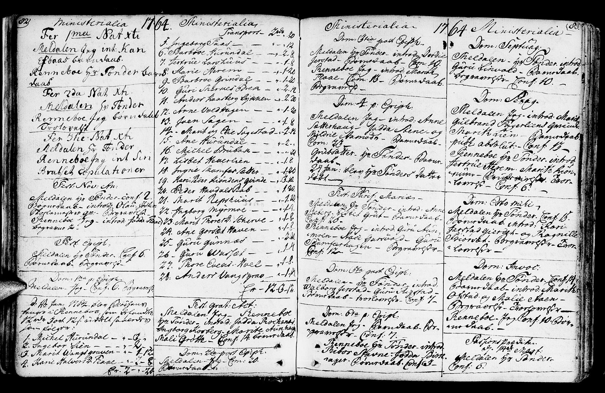 SAT, Ministerialprotokoller, klokkerbøker og fødselsregistre - Sør-Trøndelag, 672/L0851: Ministerialbok nr. 672A04, 1751-1775, s. 82-83