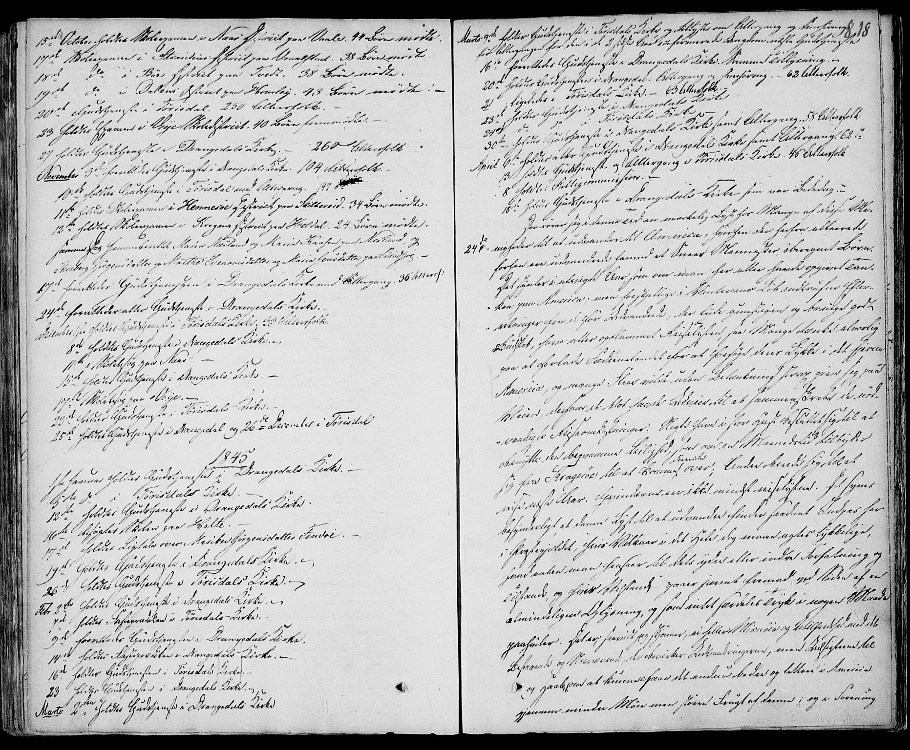 SAKO, Drangedal kirkebøker, F/Fa/L0007b: Ministerialbok nr. 7b, 1837-1856, s. 818