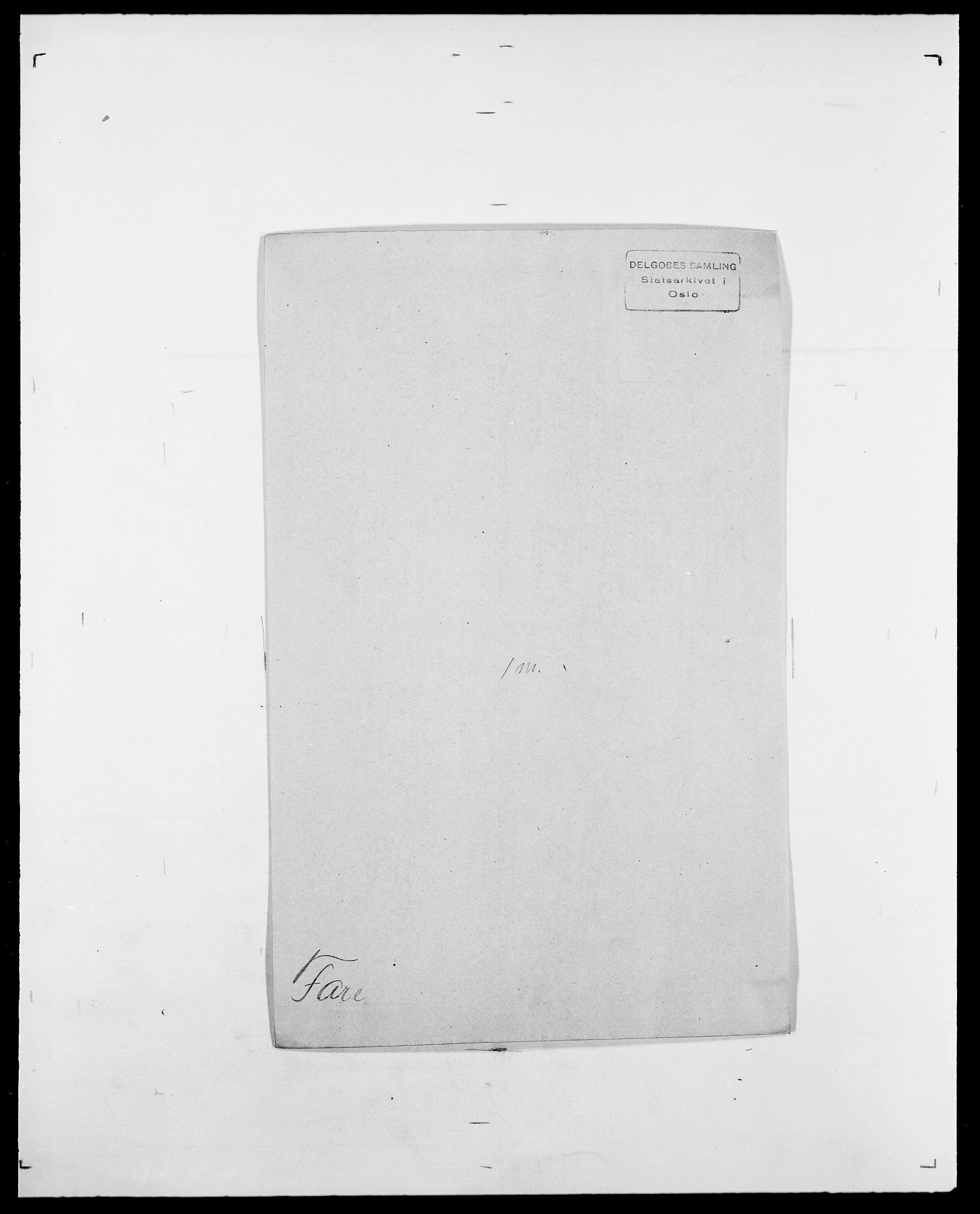 SAO, Delgobe, Charles Antoine - samling, D/Da/L0011: Fahlander - Flood, Flod, s. 181