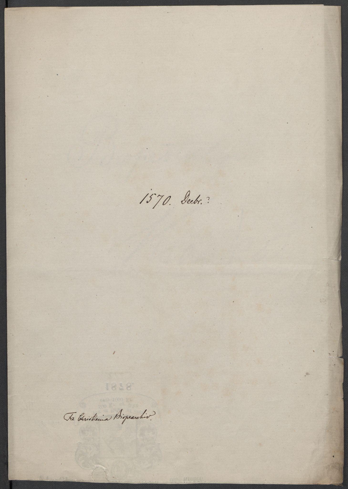 RA, Riksarkivets diplomsamling, F02/L0075: Dokumenter, 1570-1571, s. 43