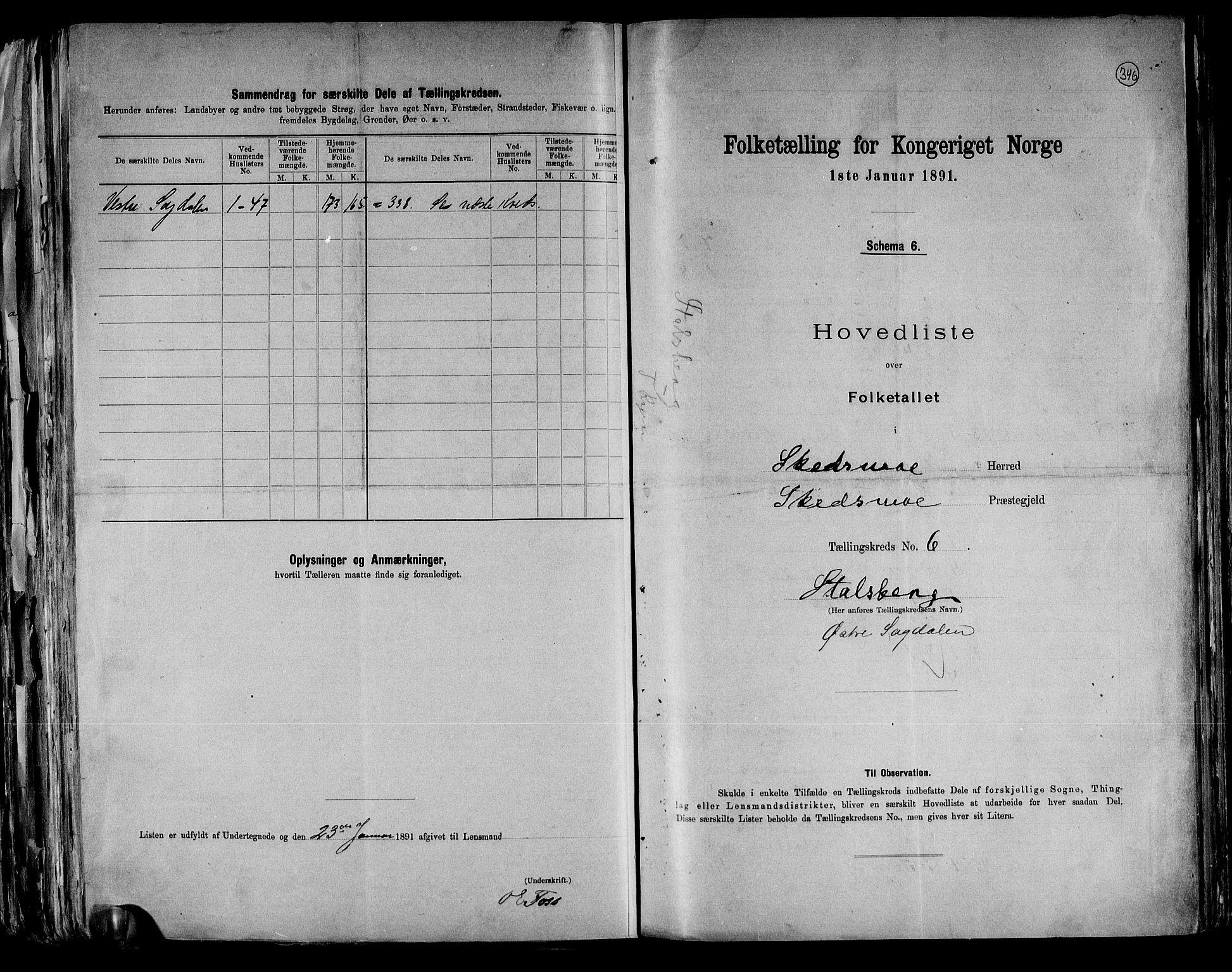 RA, Folketelling 1891 for 0231 Skedsmo herred, 1891, s. 14