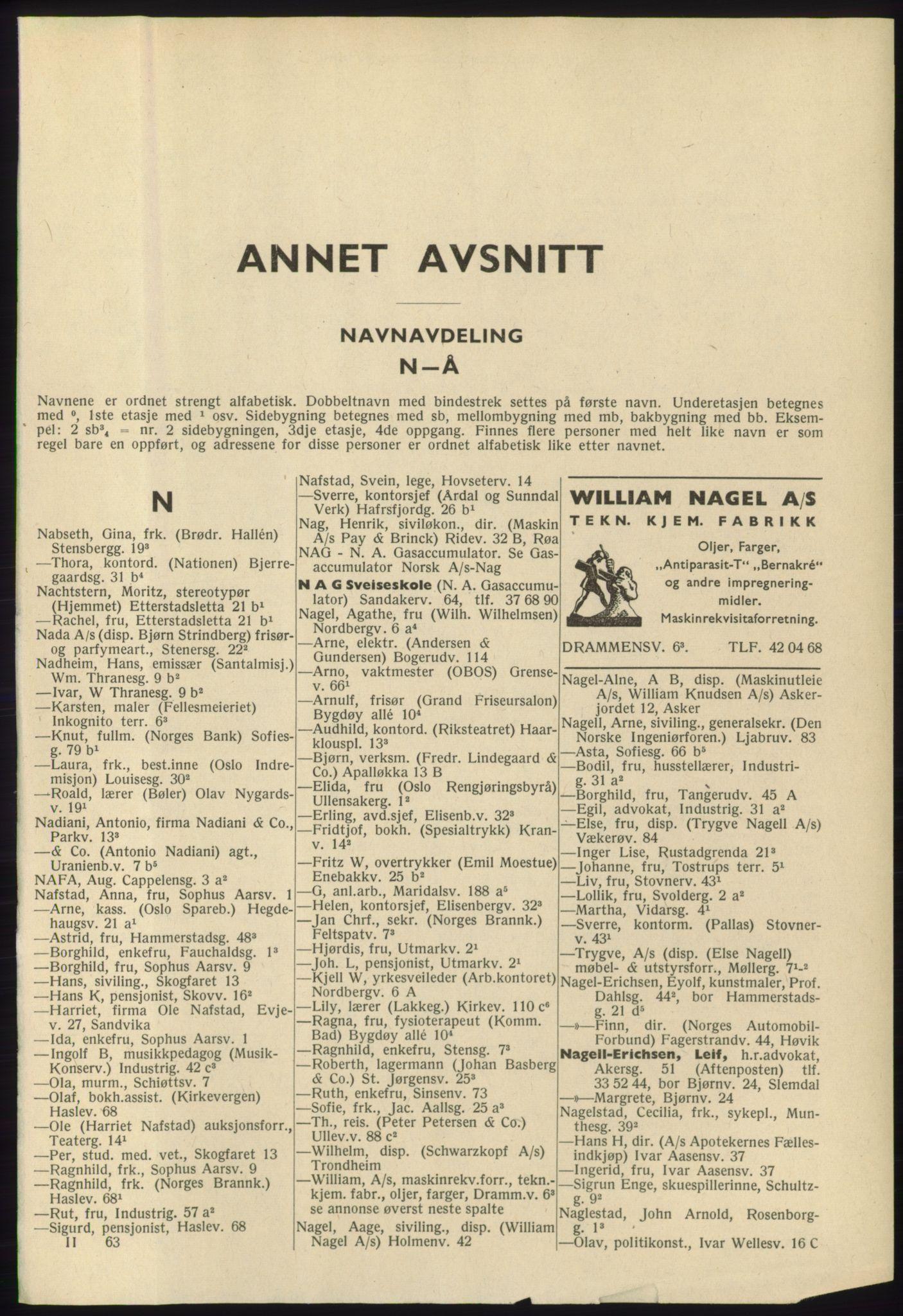 RA, Oslo adressebok (publikasjon)*, 1965-1966, s. 1125