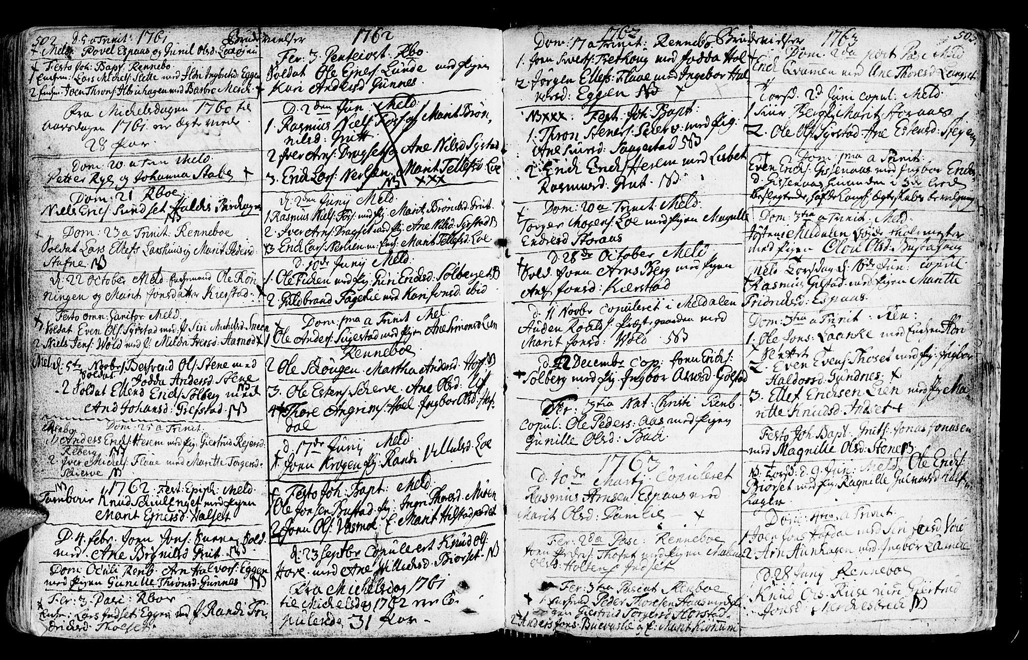 SAT, Ministerialprotokoller, klokkerbøker og fødselsregistre - Sør-Trøndelag, 672/L0851: Ministerialbok nr. 672A04, 1751-1775, s. 502-503