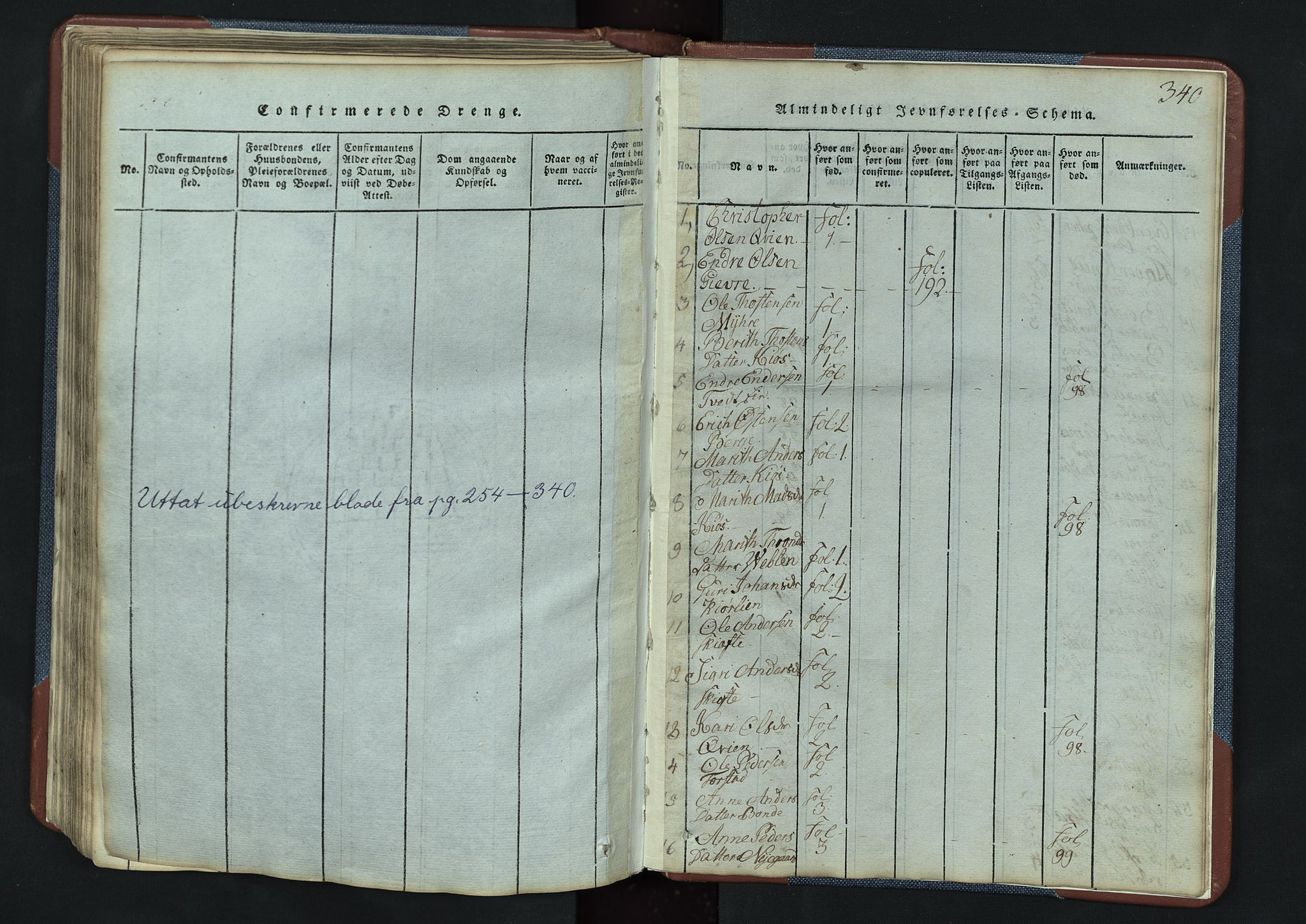 SAH, Vang prestekontor, Valdres, Klokkerbok nr. 3, 1814-1892, s. 340