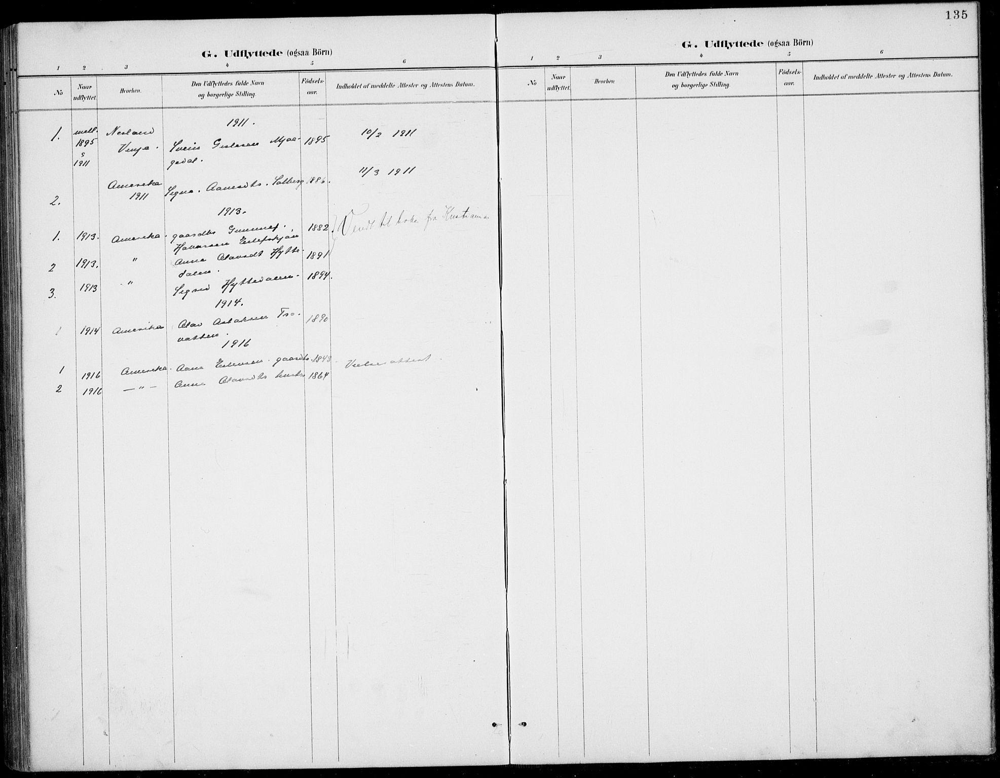 SAKO, Rauland kirkebøker, G/Gb/L0002: Klokkerbok nr. II 2, 1887-1937, s. 135