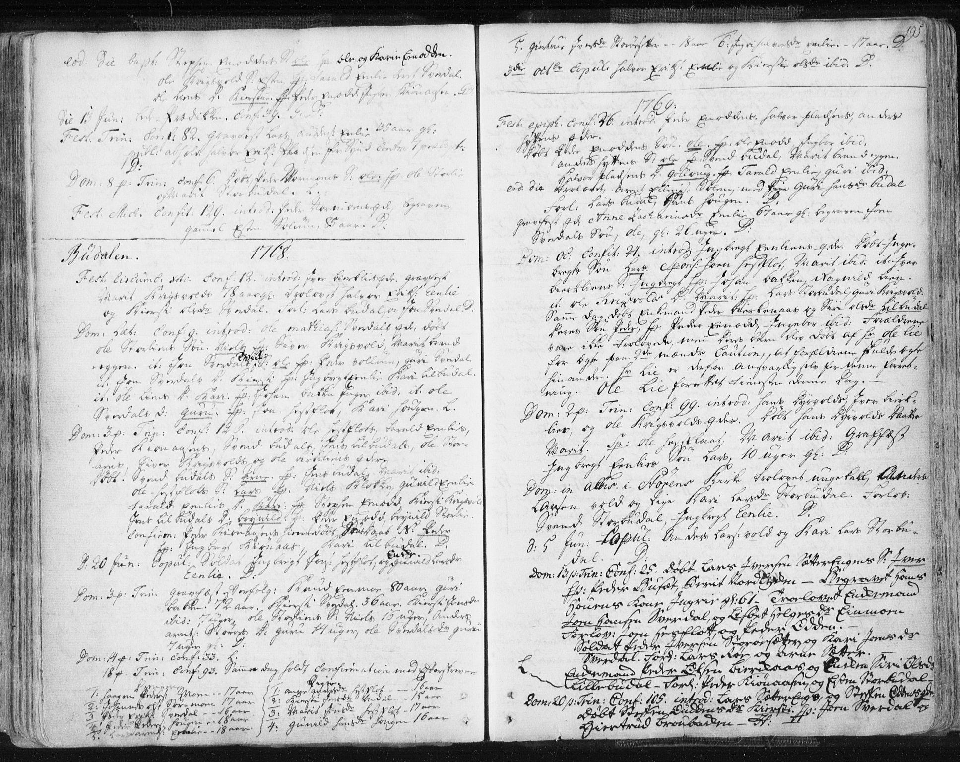 SAT, Ministerialprotokoller, klokkerbøker og fødselsregistre - Sør-Trøndelag, 687/L0991: Ministerialbok nr. 687A02, 1747-1790, s. 195