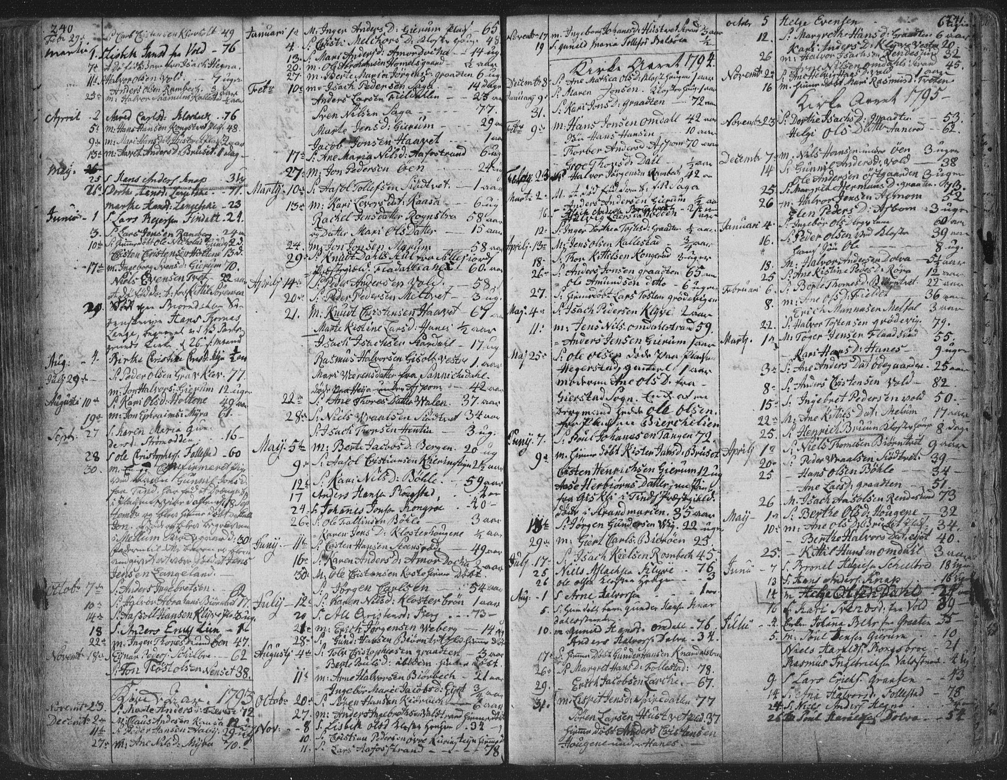 SAKO, Solum kirkebøker, F/Fa/L0003: Ministerialbok nr. I 3, 1761-1814, s. 240-241
