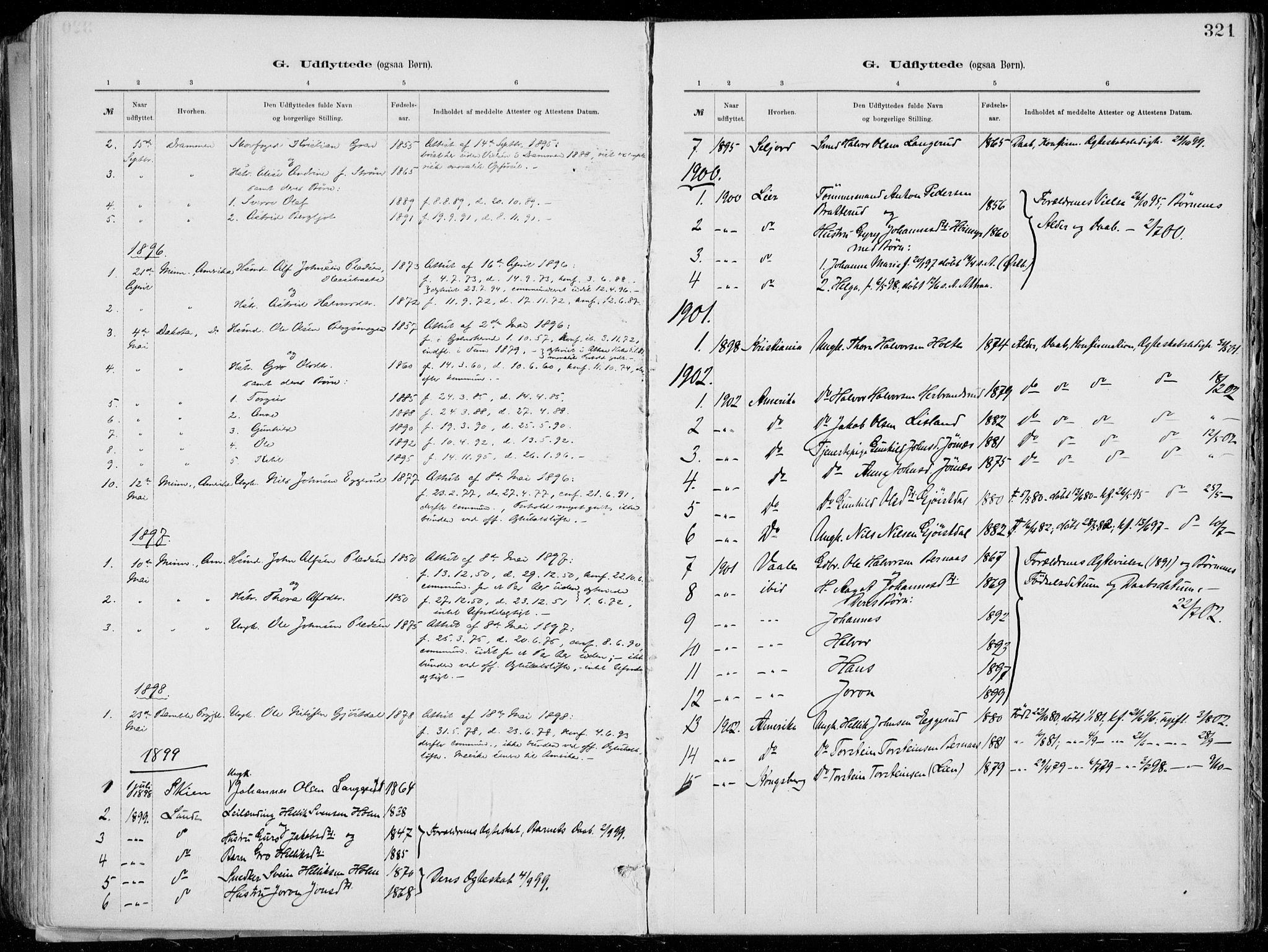 SAKO, Tinn kirkebøker, F/Fa/L0007: Ministerialbok nr. I 7, 1878-1922, s. 321