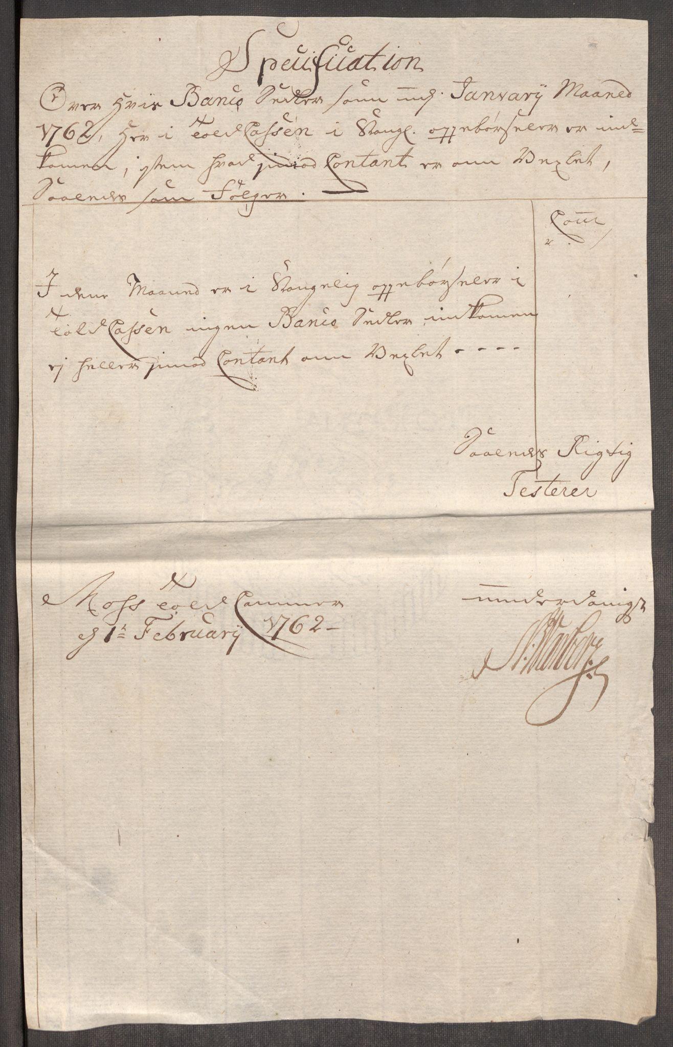RA, Rentekammeret inntil 1814, Realistisk ordnet avdeling, Oe/L0007: [Ø1]: Priskuranter, 1761-1763, s. 322