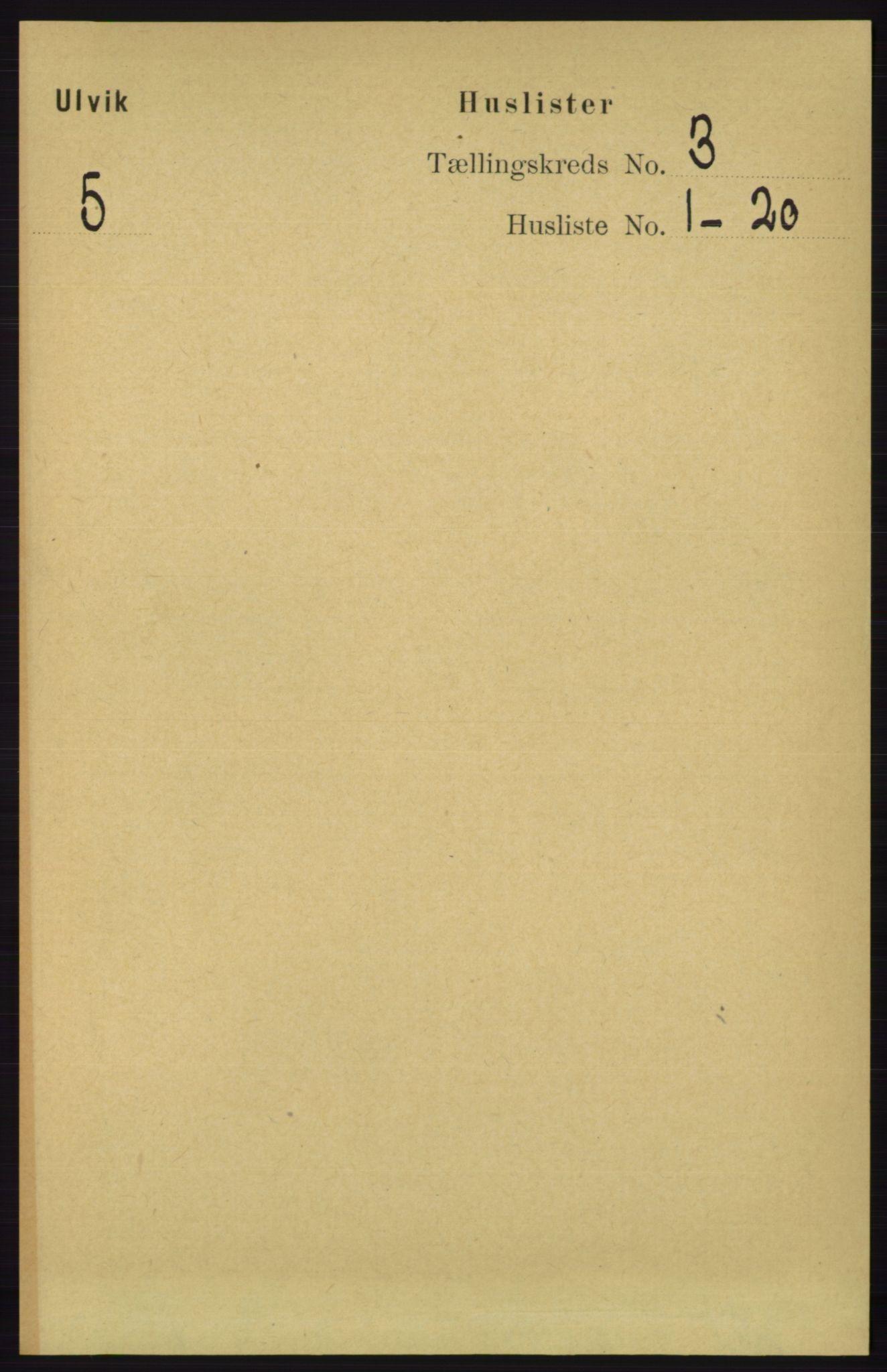 RA, Folketelling 1891 for 1233 Ulvik herred, 1891, s. 316