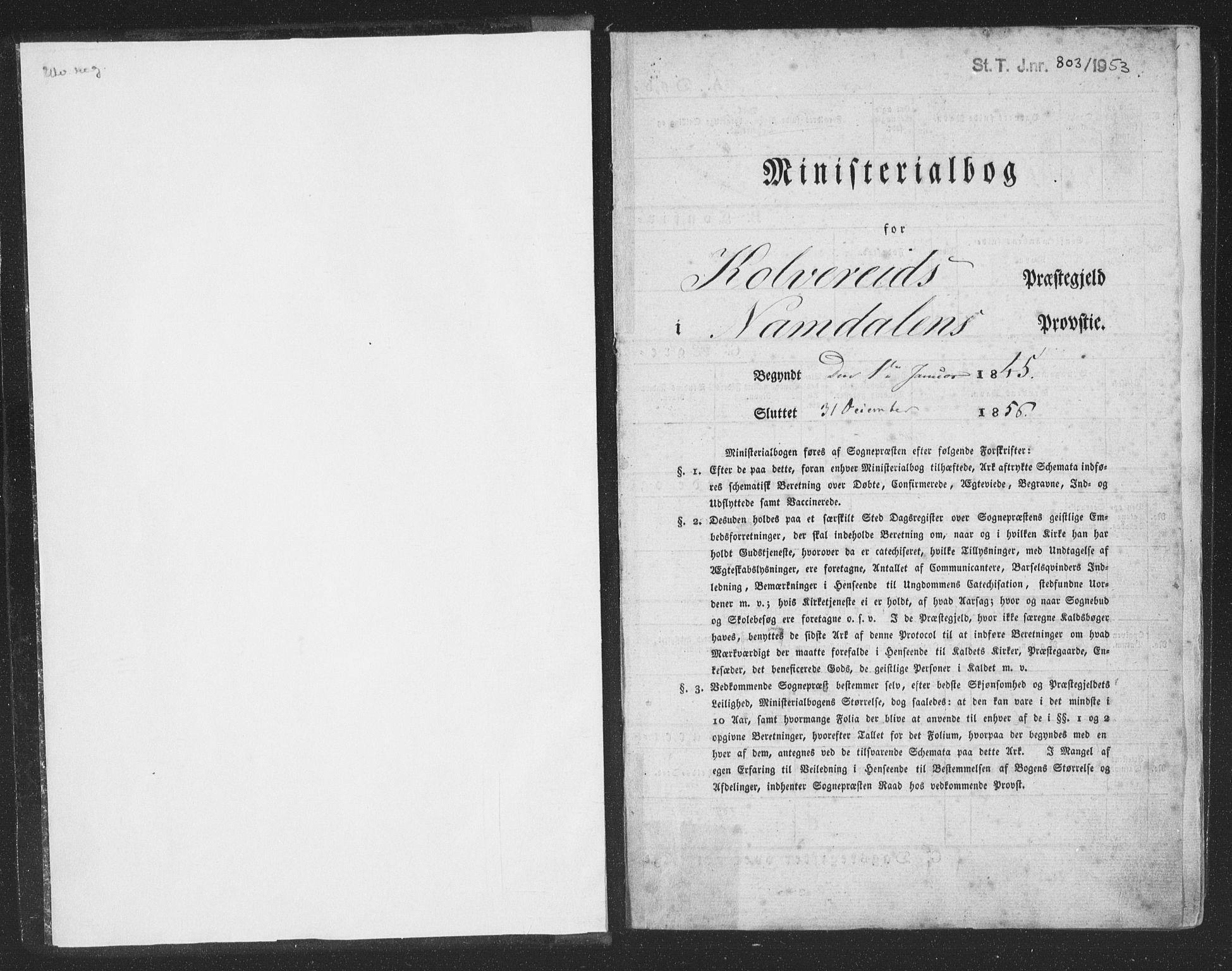 SAT, Ministerialprotokoller, klokkerbøker og fødselsregistre - Nord-Trøndelag, 780/L0640: Ministerialbok nr. 780A05, 1845-1856