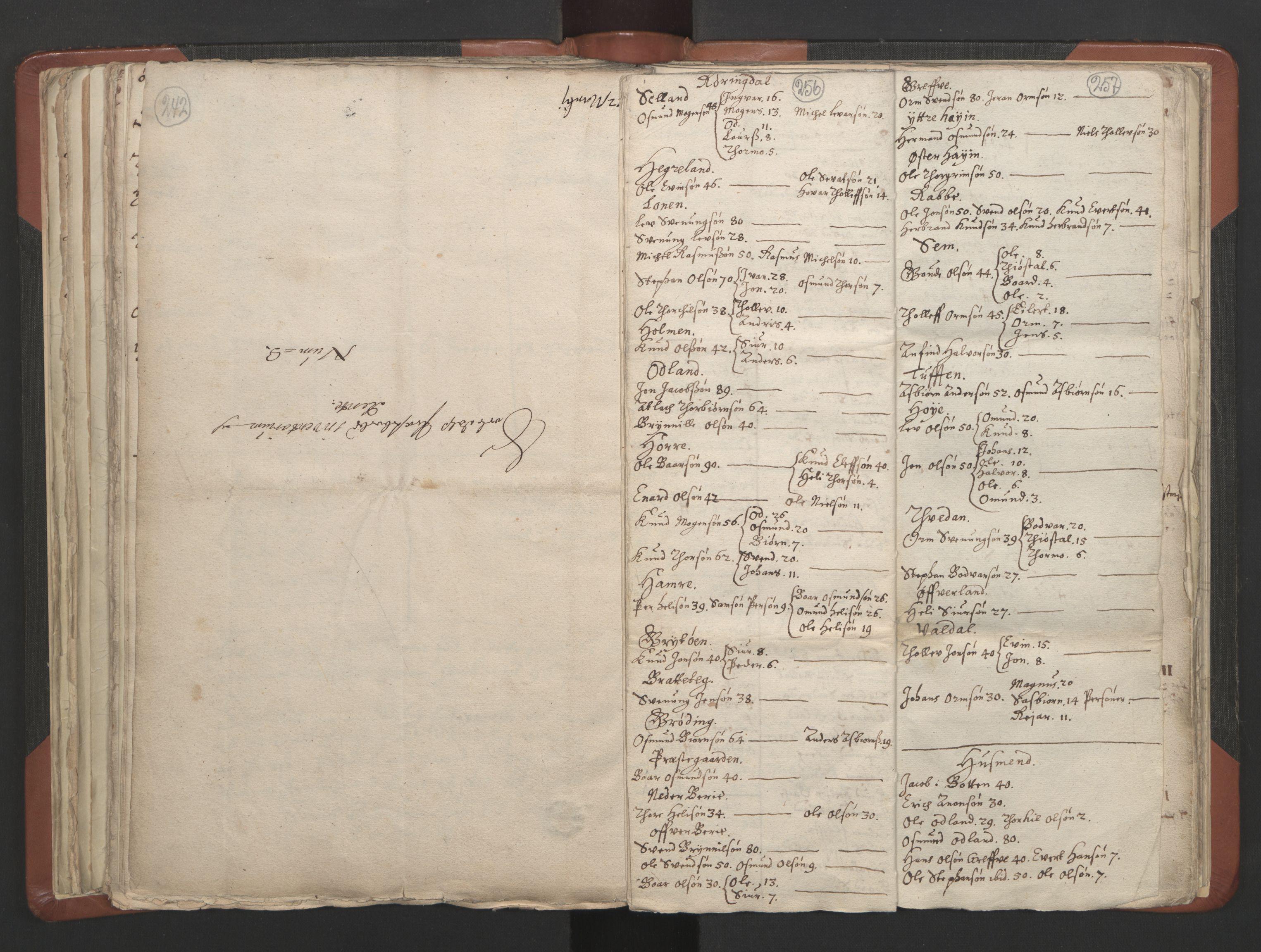 RA, Sogneprestenes manntall 1664-1666, nr. 19: Ryfylke prosti, 1664-1666, s. 256-257