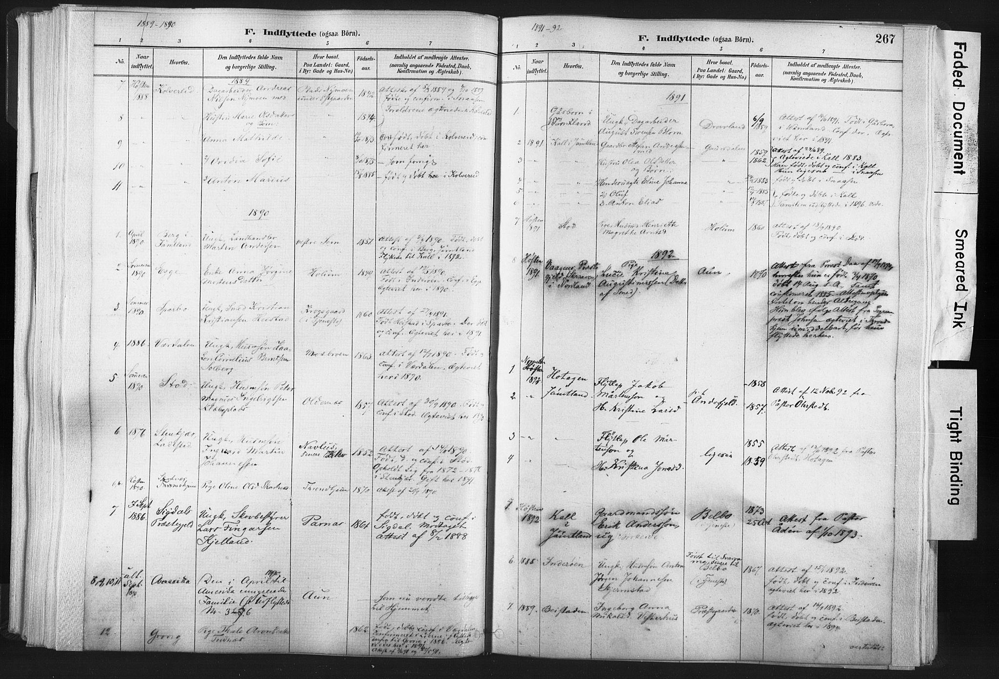 SAT, Ministerialprotokoller, klokkerbøker og fødselsregistre - Nord-Trøndelag, 749/L0474: Ministerialbok nr. 749A08, 1887-1903, s. 267