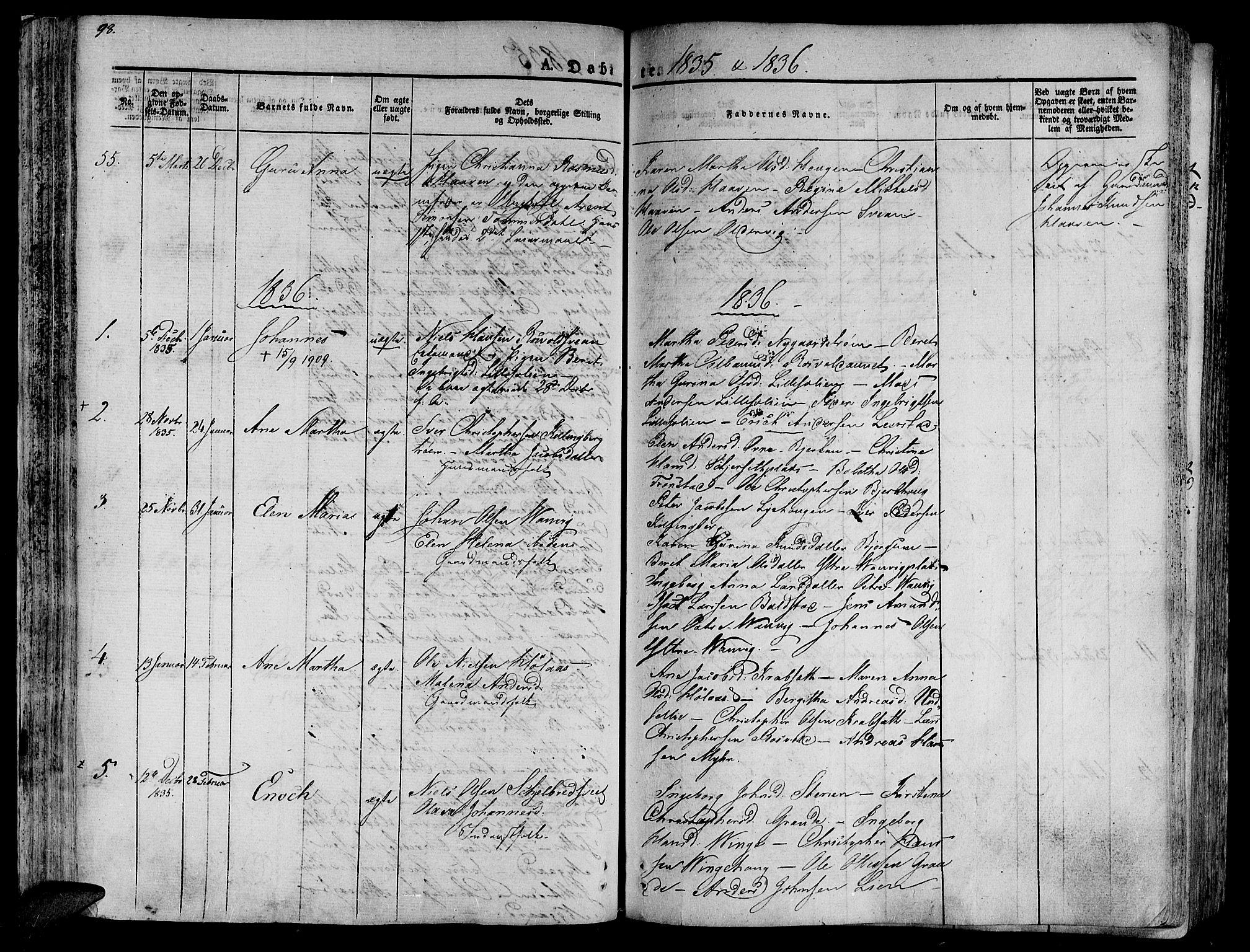 SAT, Ministerialprotokoller, klokkerbøker og fødselsregistre - Nord-Trøndelag, 701/L0006: Ministerialbok nr. 701A06, 1825-1841, s. 98