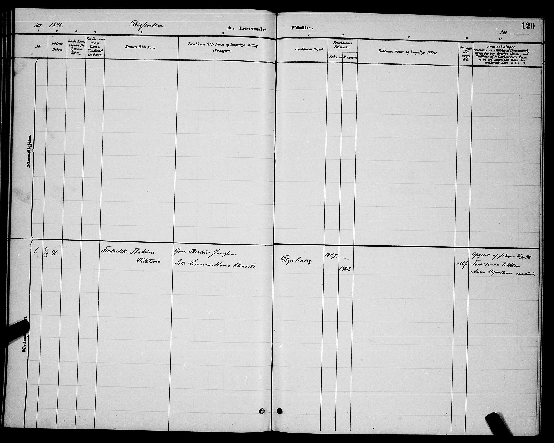 SAT, Ministerialprotokoller, klokkerbøker og fødselsregistre - Nordland, 863/L0914: Klokkerbok nr. 863C04, 1886-1897, s. 120