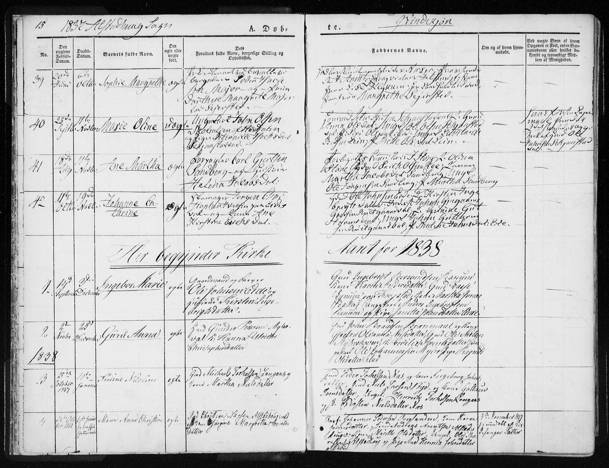 SAT, Ministerialprotokoller, klokkerbøker og fødselsregistre - Nord-Trøndelag, 717/L0154: Ministerialbok nr. 717A06 /1, 1836-1849, s. 15