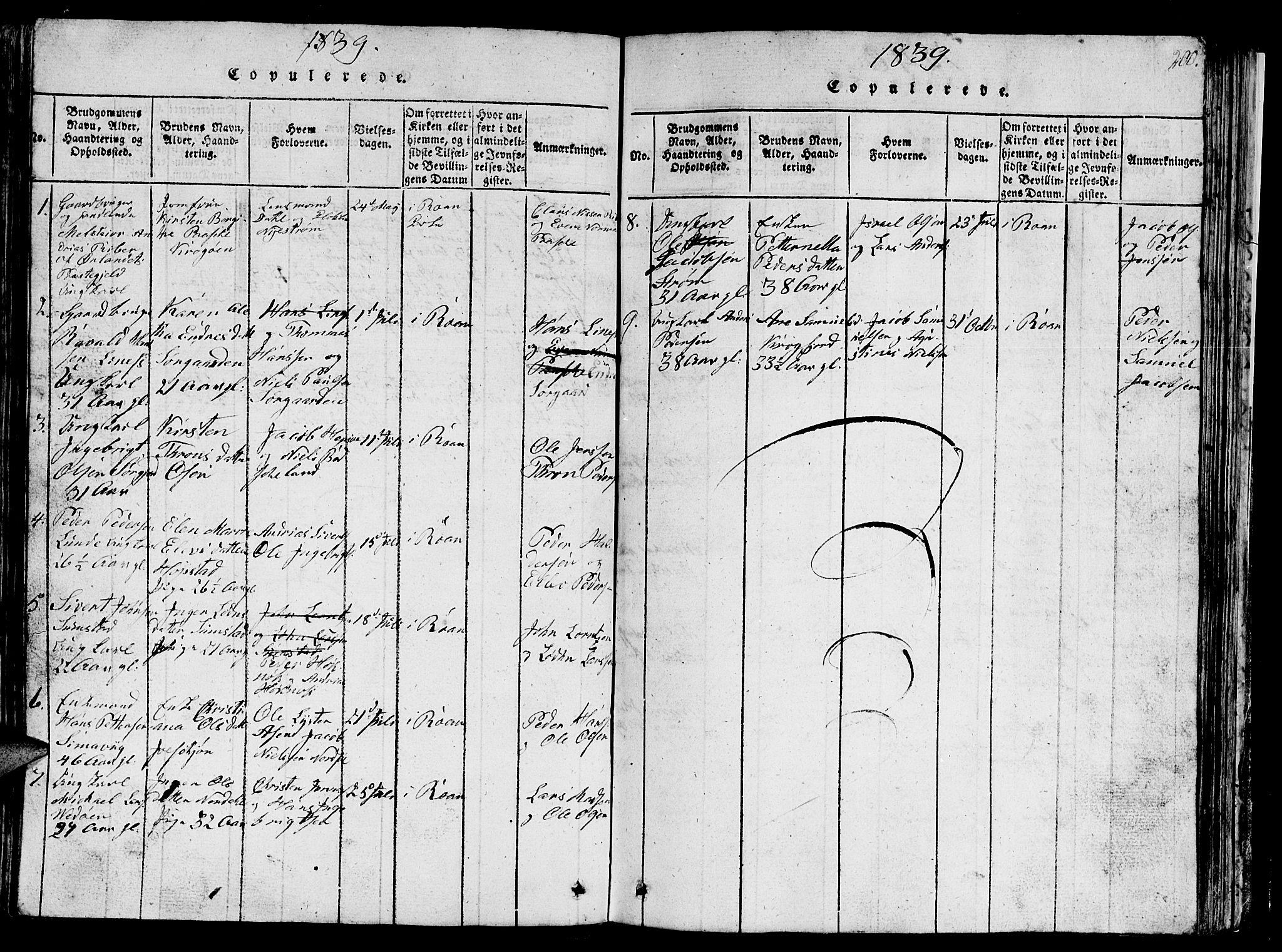 SAT, Ministerialprotokoller, klokkerbøker og fødselsregistre - Sør-Trøndelag, 657/L0714: Klokkerbok nr. 657C01, 1818-1868, s. 200