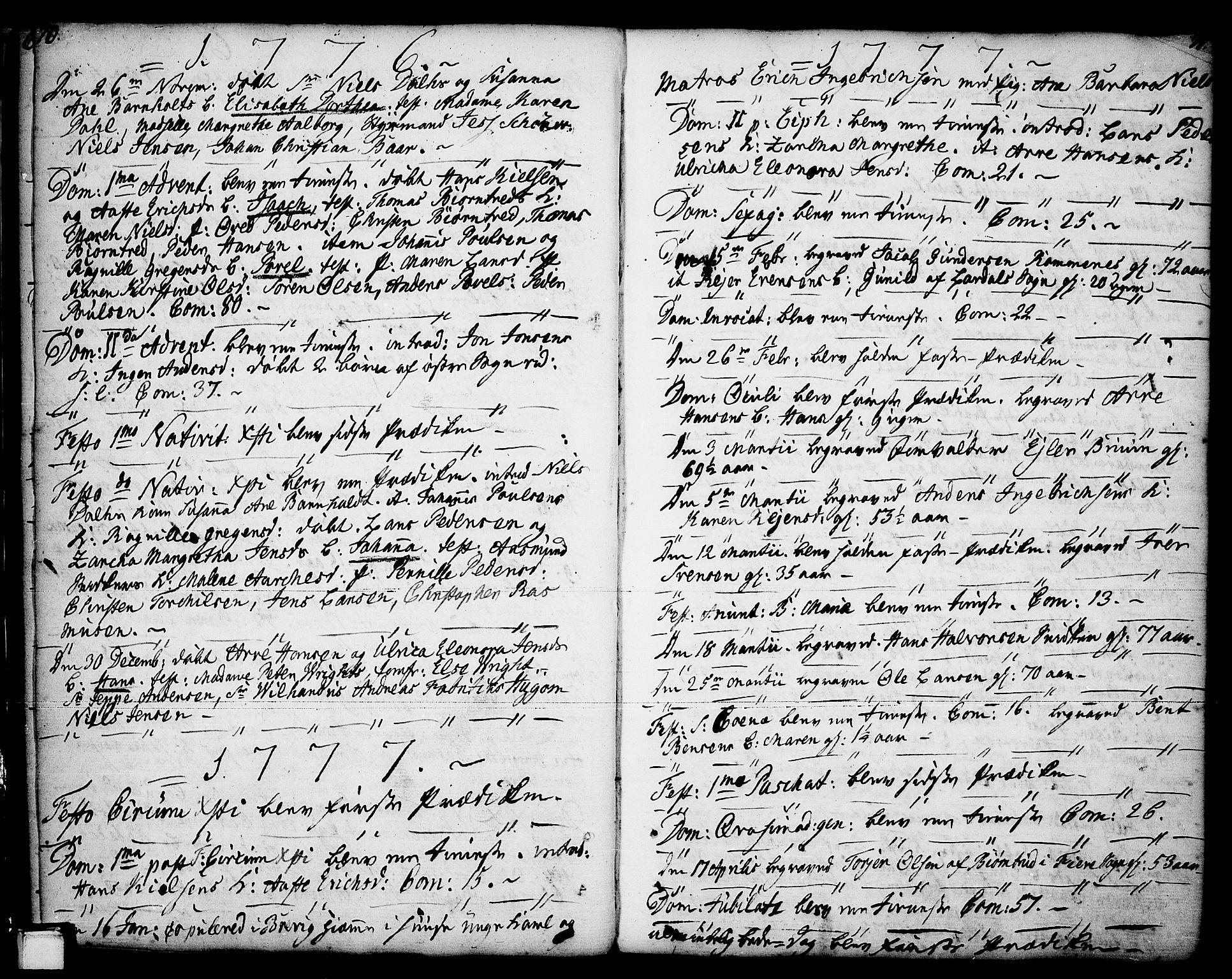 SAKO, Porsgrunn kirkebøker , F/Fa/L0001: Ministerialbok nr. 1, 1764-1814, s. 70-71