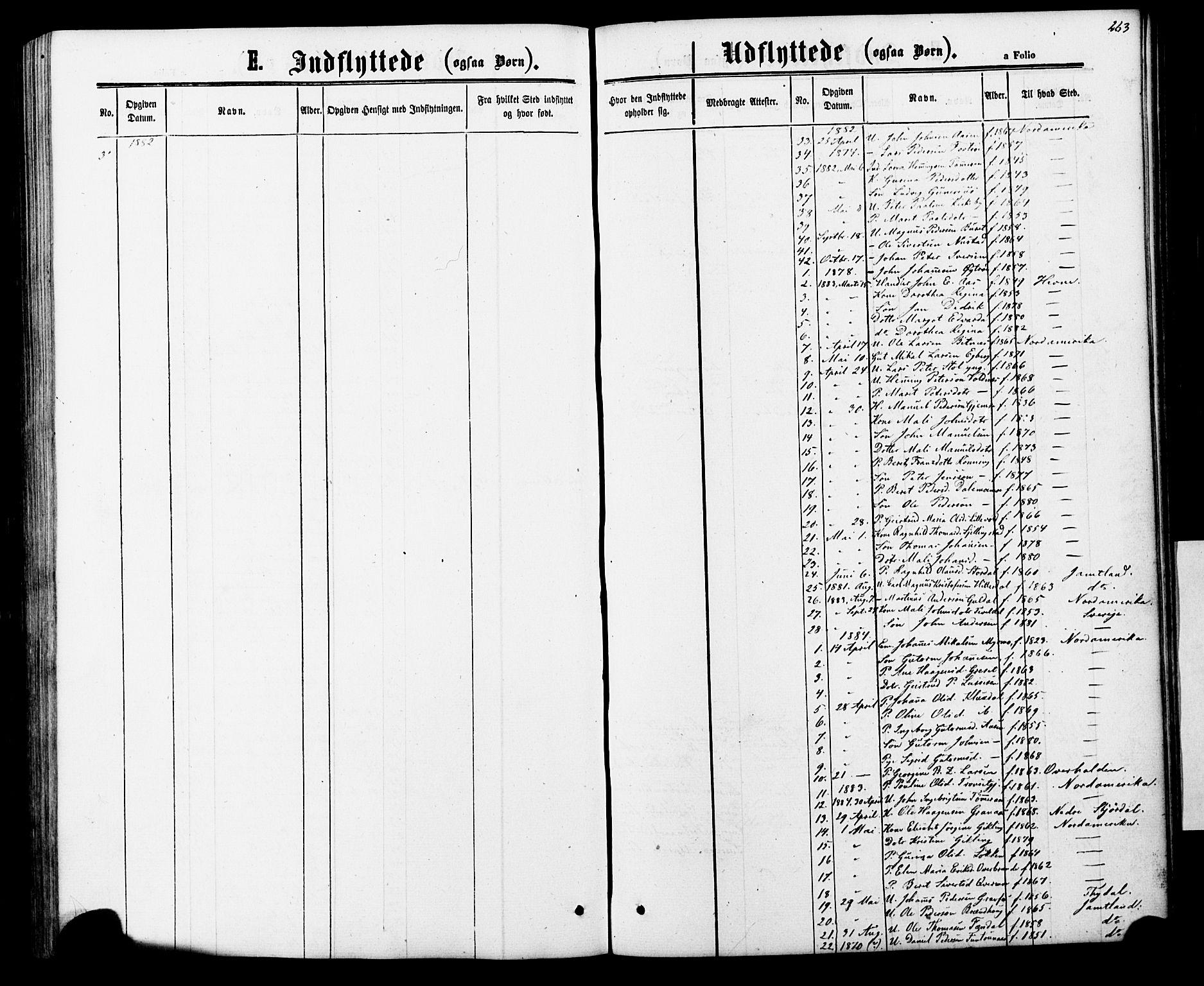 SAT, Ministerialprotokoller, klokkerbøker og fødselsregistre - Nord-Trøndelag, 706/L0049: Klokkerbok nr. 706C01, 1864-1895, s. 263