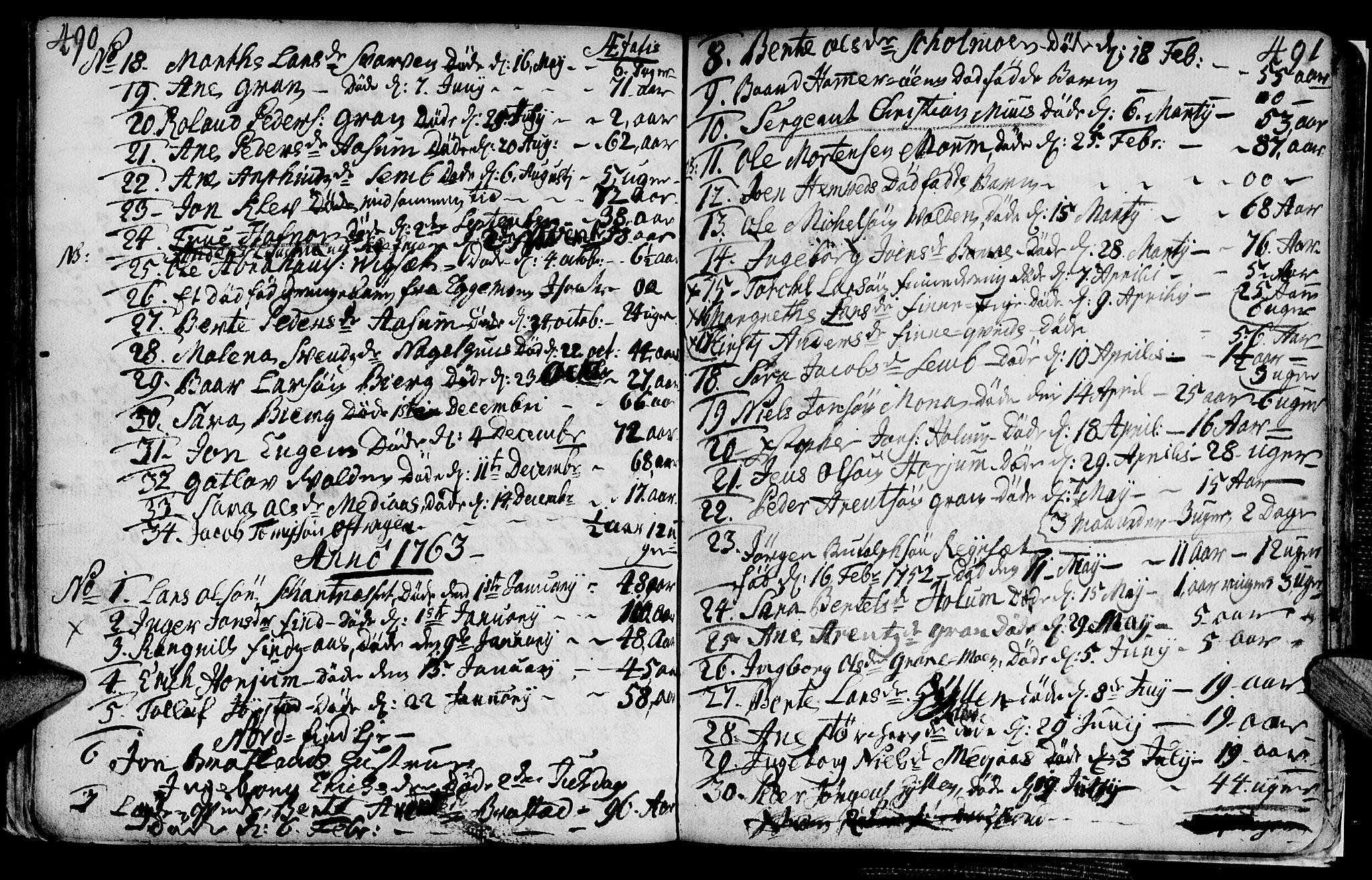 SAT, Ministerialprotokoller, klokkerbøker og fødselsregistre - Nord-Trøndelag, 749/L0467: Ministerialbok nr. 749A01, 1733-1787, s. 490-491