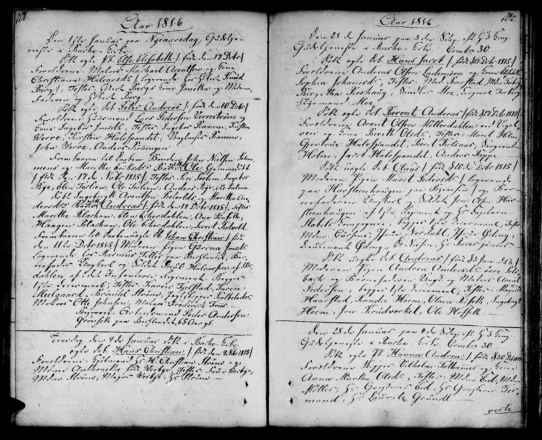 SAT, Ministerialprotokoller, klokkerbøker og fødselsregistre - Sør-Trøndelag, 604/L0181: Ministerialbok nr. 604A02, 1798-1817, s. 206-207