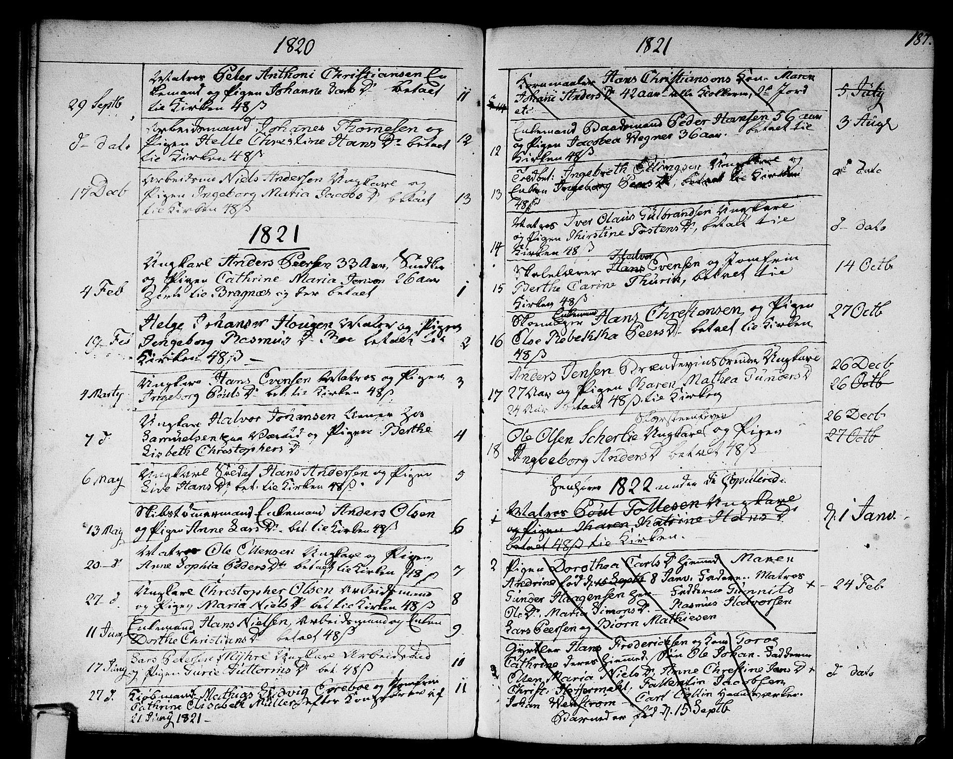 SAKO, Strømsø kirkebøker, F/Fa/L0010: Ministerialbok nr. I 10, 1792-1822, s. 187