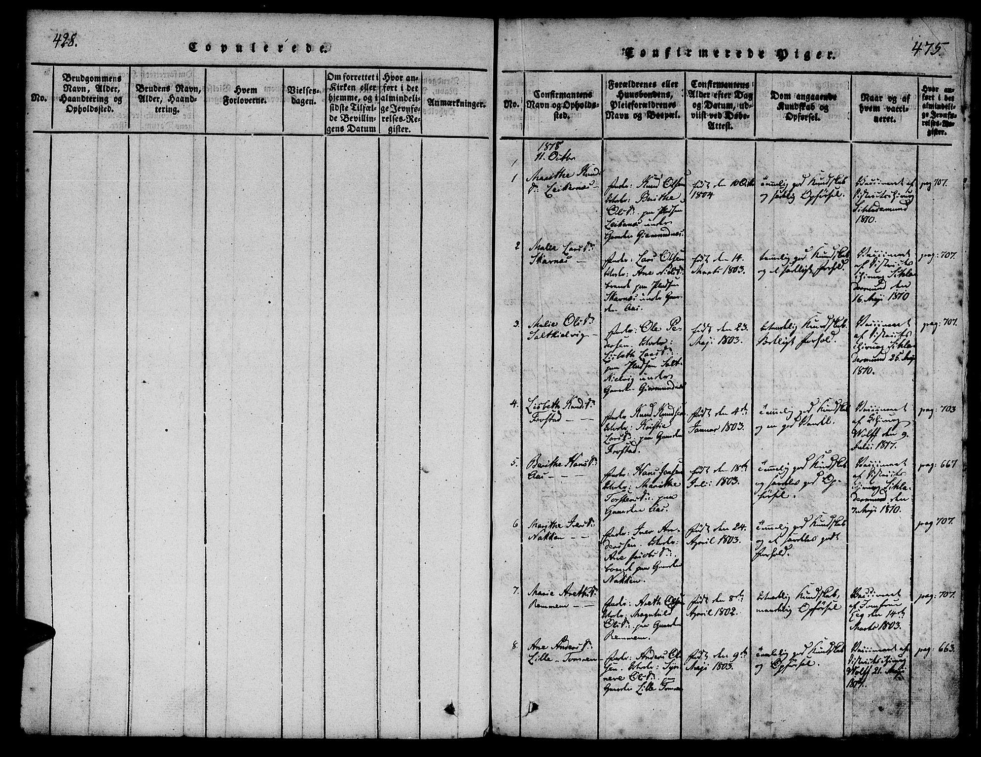 SAT, Ministerialprotokoller, klokkerbøker og fødselsregistre - Møre og Romsdal, 539/L0528: Ministerialbok nr. 539A01, 1818-1847, s. 428