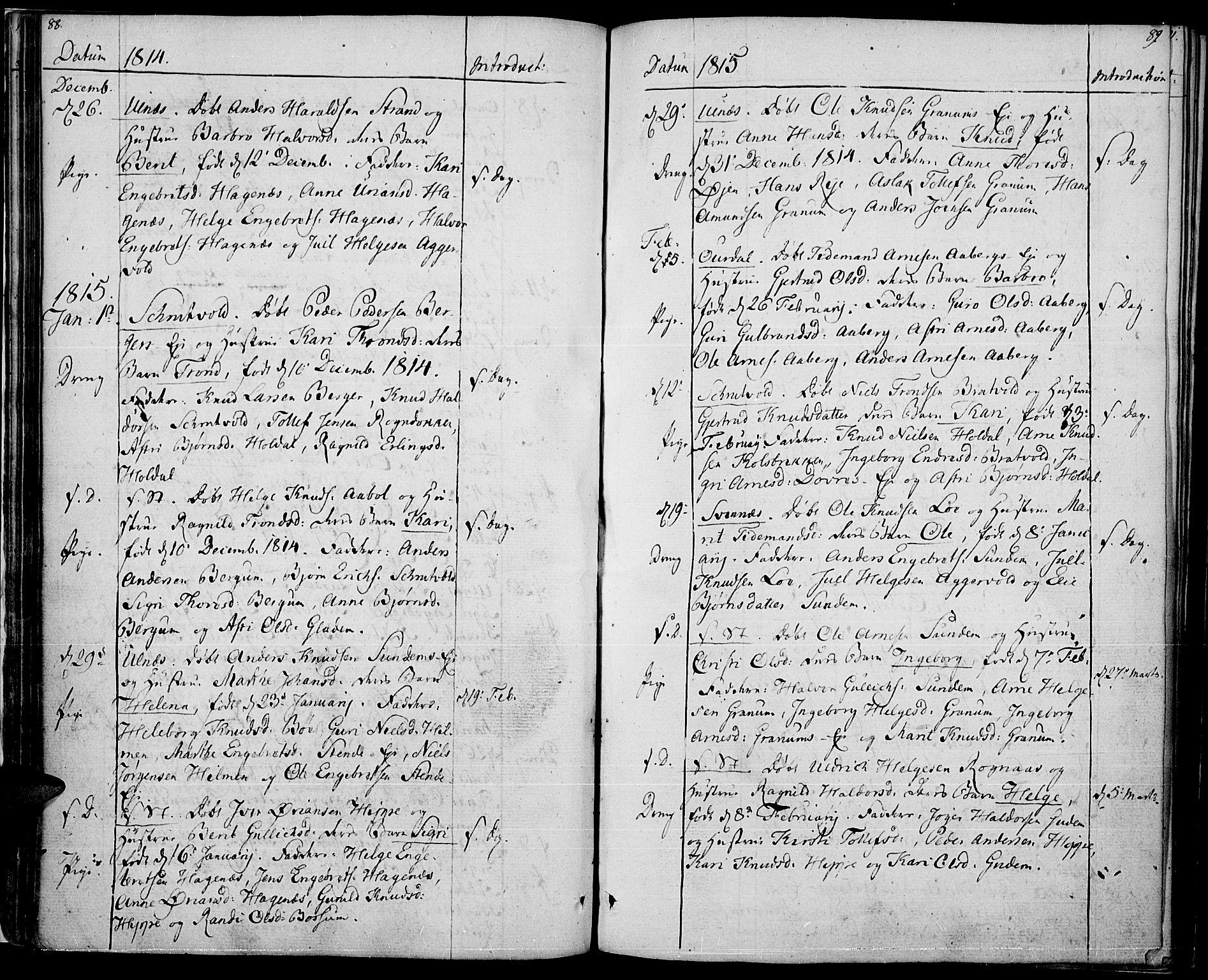 SAH, Nord-Aurdal prestekontor, Ministerialbok nr. 1, 1808-1815, s. 88-89