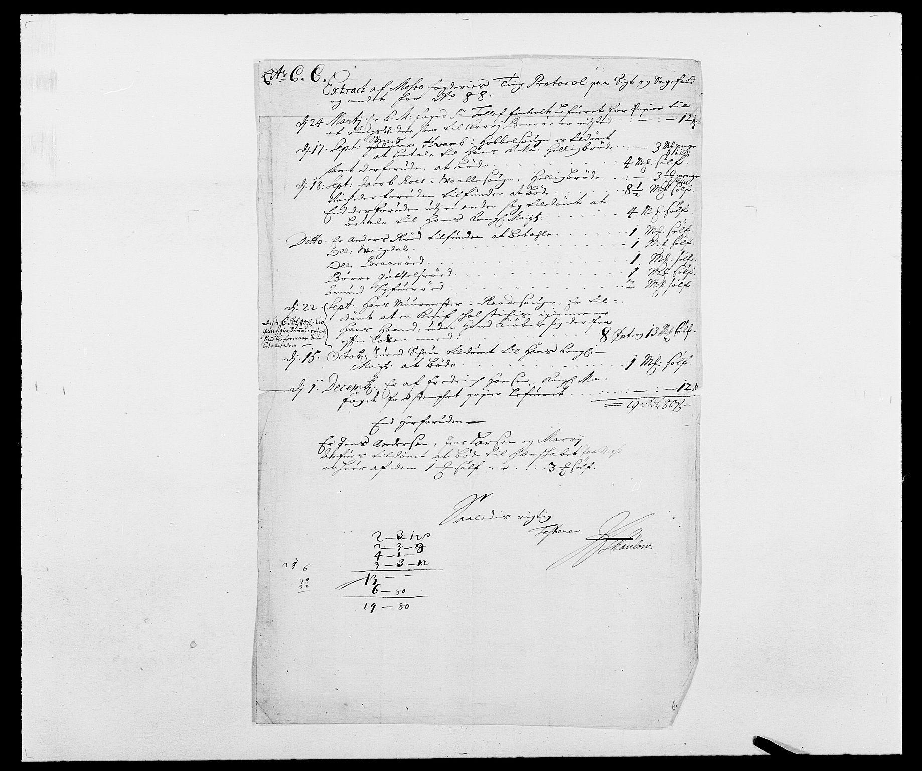 RA, Rentekammeret inntil 1814, Reviderte regnskaper, Fogderegnskap, R02/L0106: Fogderegnskap Moss og Verne kloster, 1688-1691, s. 58