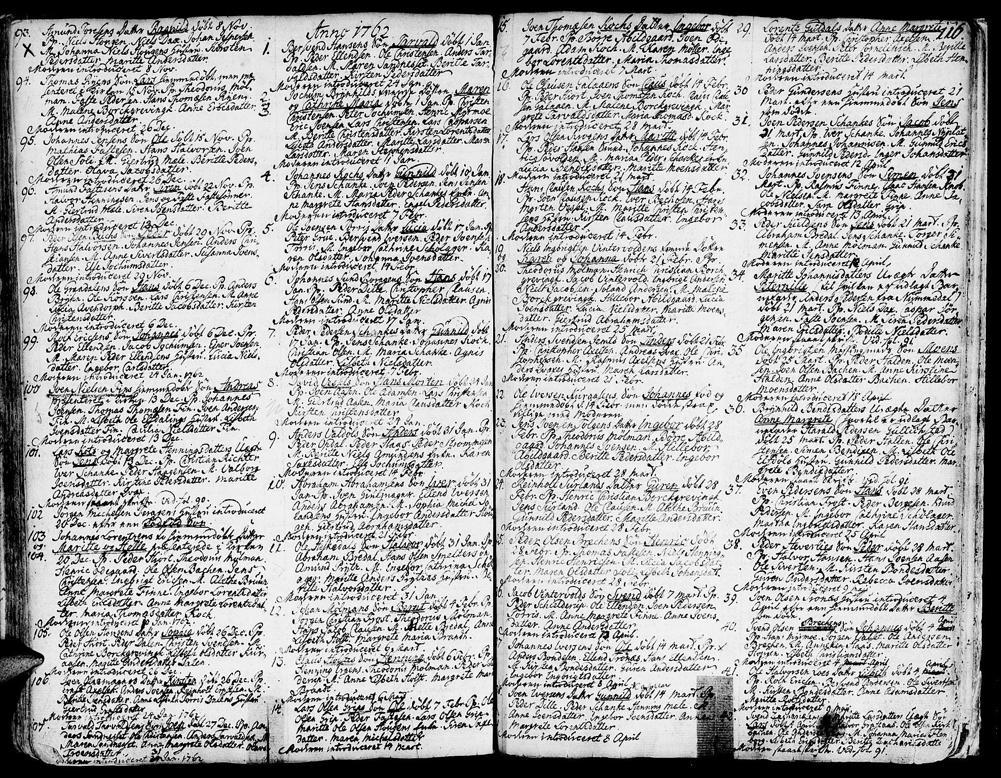 SAT, Ministerialprotokoller, klokkerbøker og fødselsregistre - Sør-Trøndelag, 681/L0925: Ministerialbok nr. 681A03, 1727-1766, s. 116
