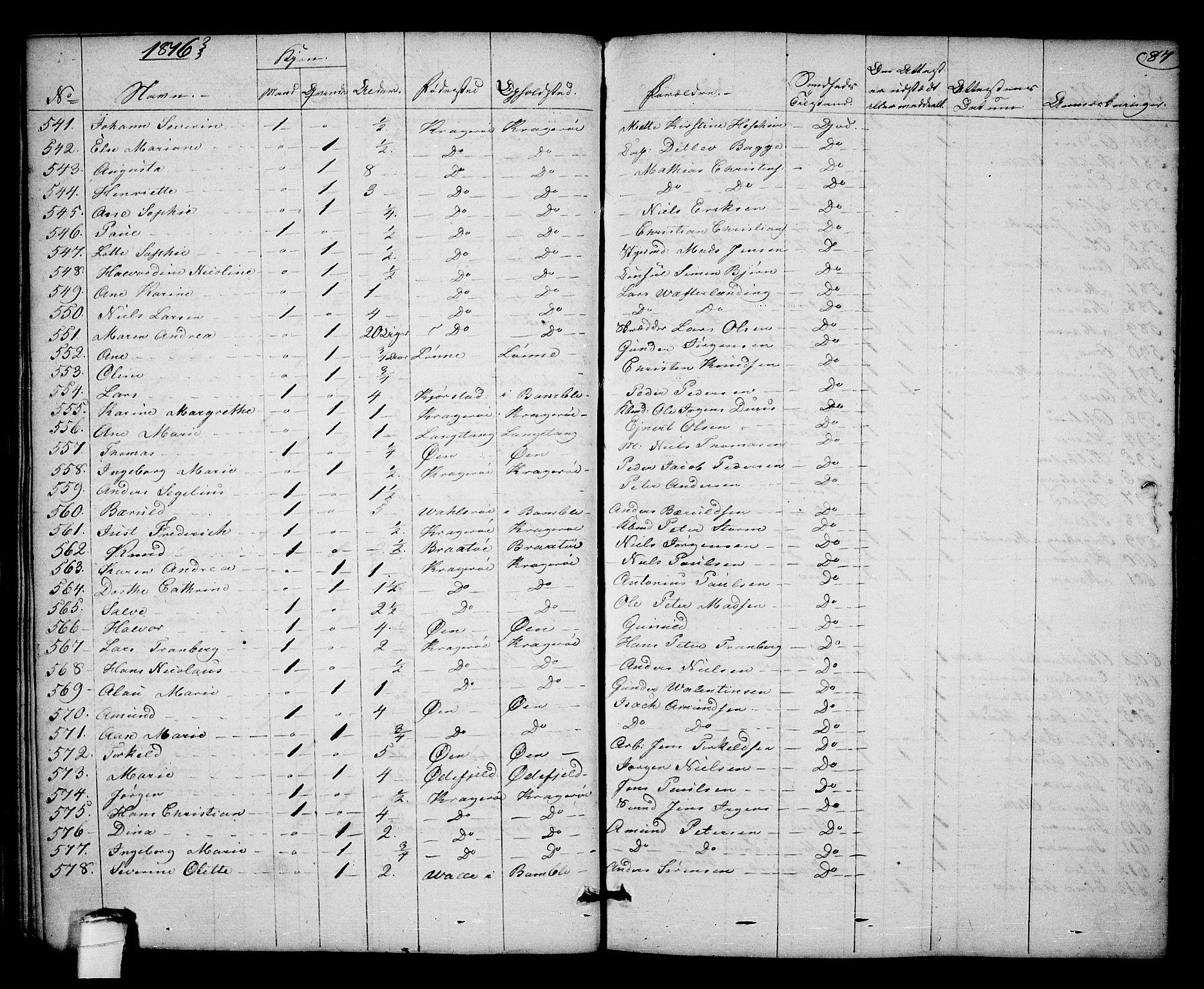 SAKO, Kragerø kirkebøker, F/Fa/L0003: Ministerialbok nr. 3, 1802-1813, s. 87