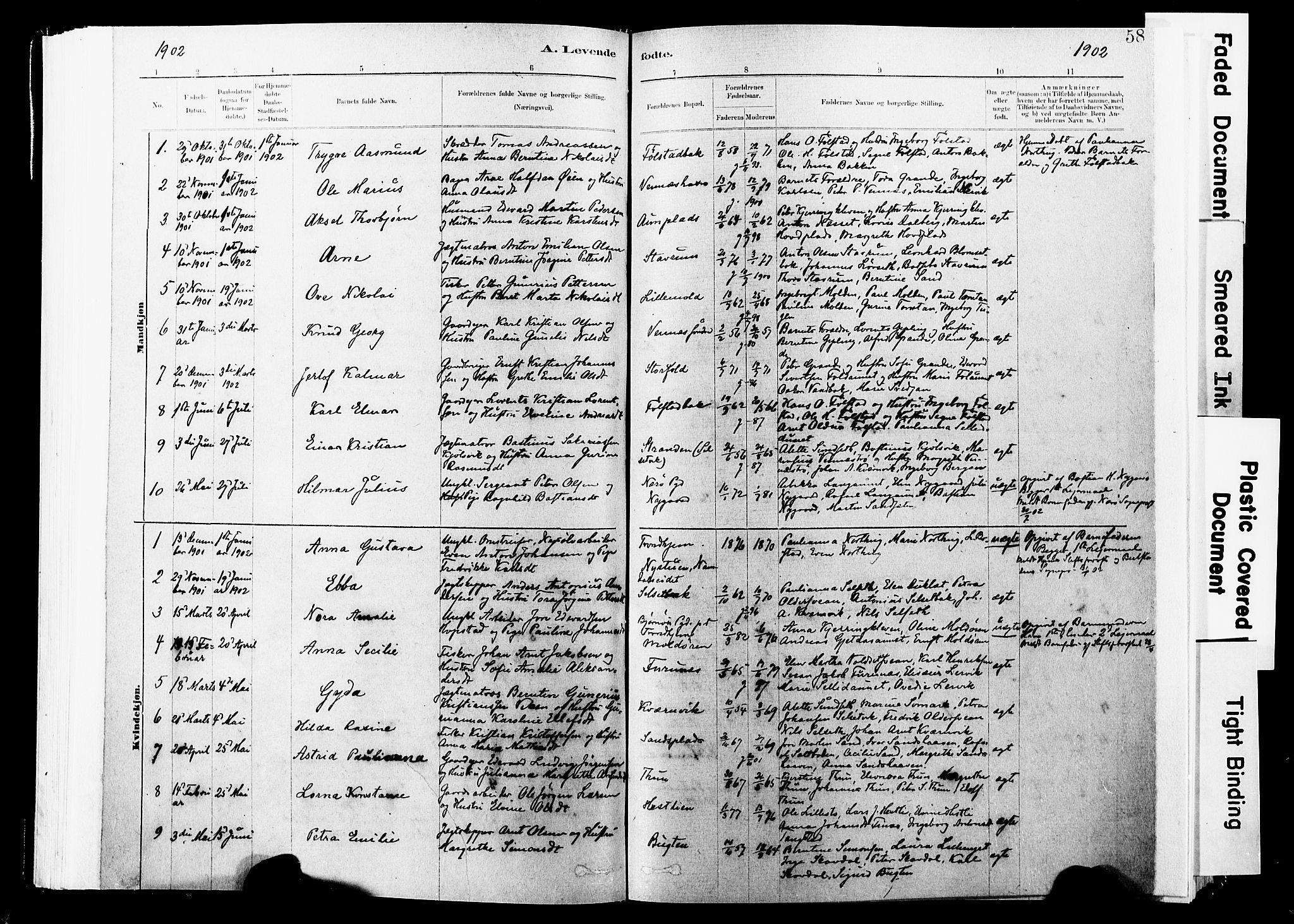 SAT, Ministerialprotokoller, klokkerbøker og fødselsregistre - Nord-Trøndelag, 744/L0420: Ministerialbok nr. 744A04, 1882-1904, s. 58